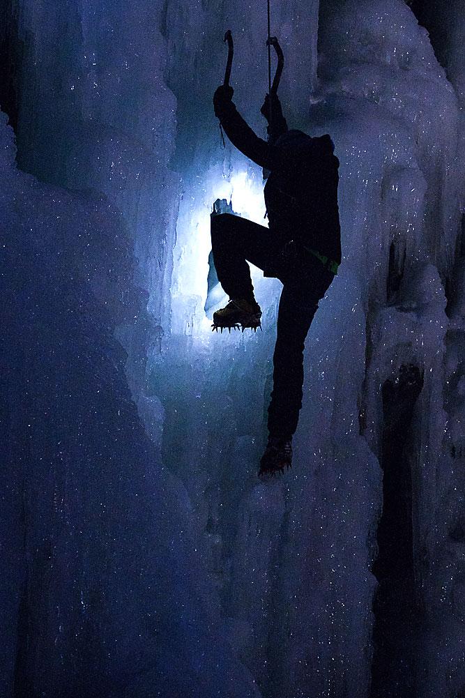 scalata su ghiaccio.foto notturna...