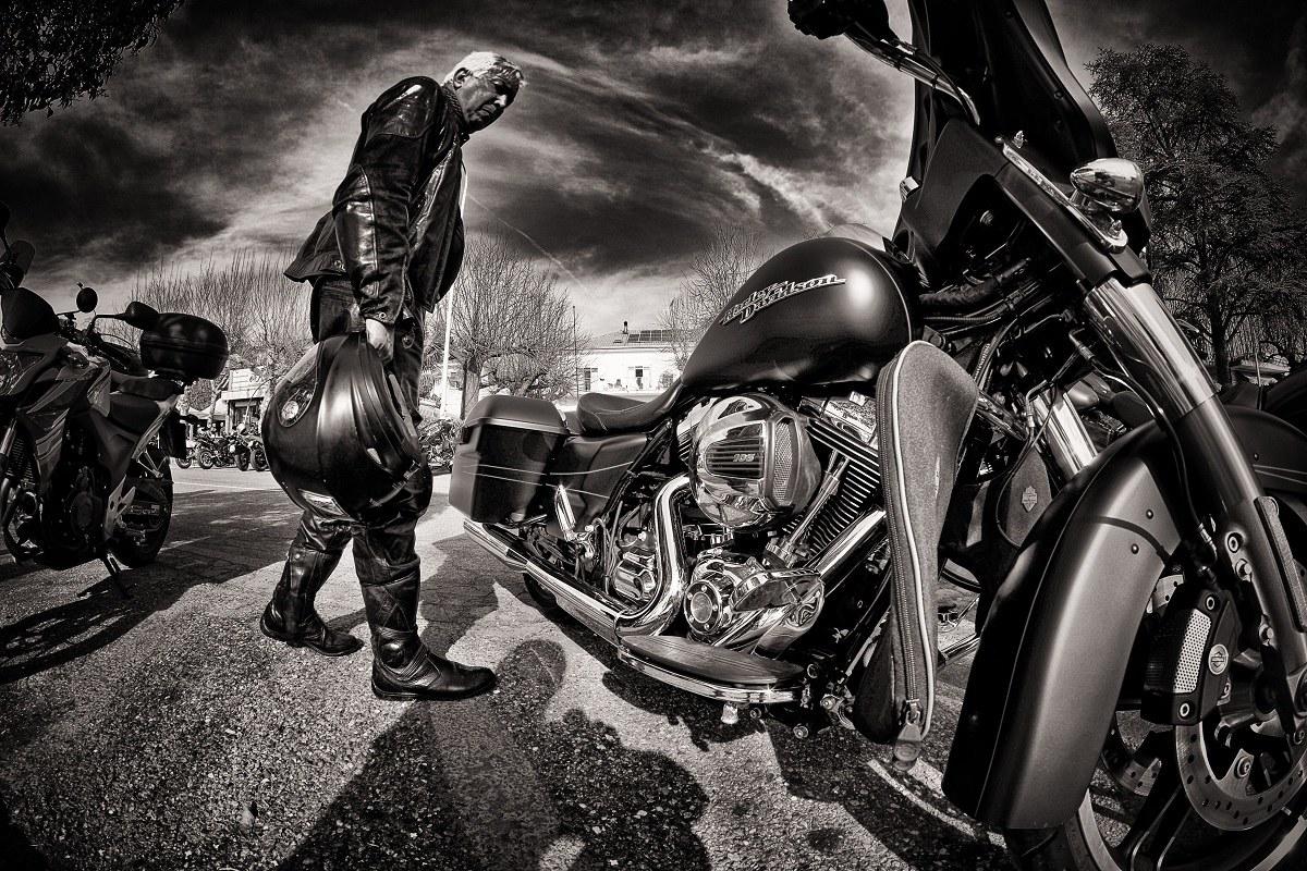 the biker...