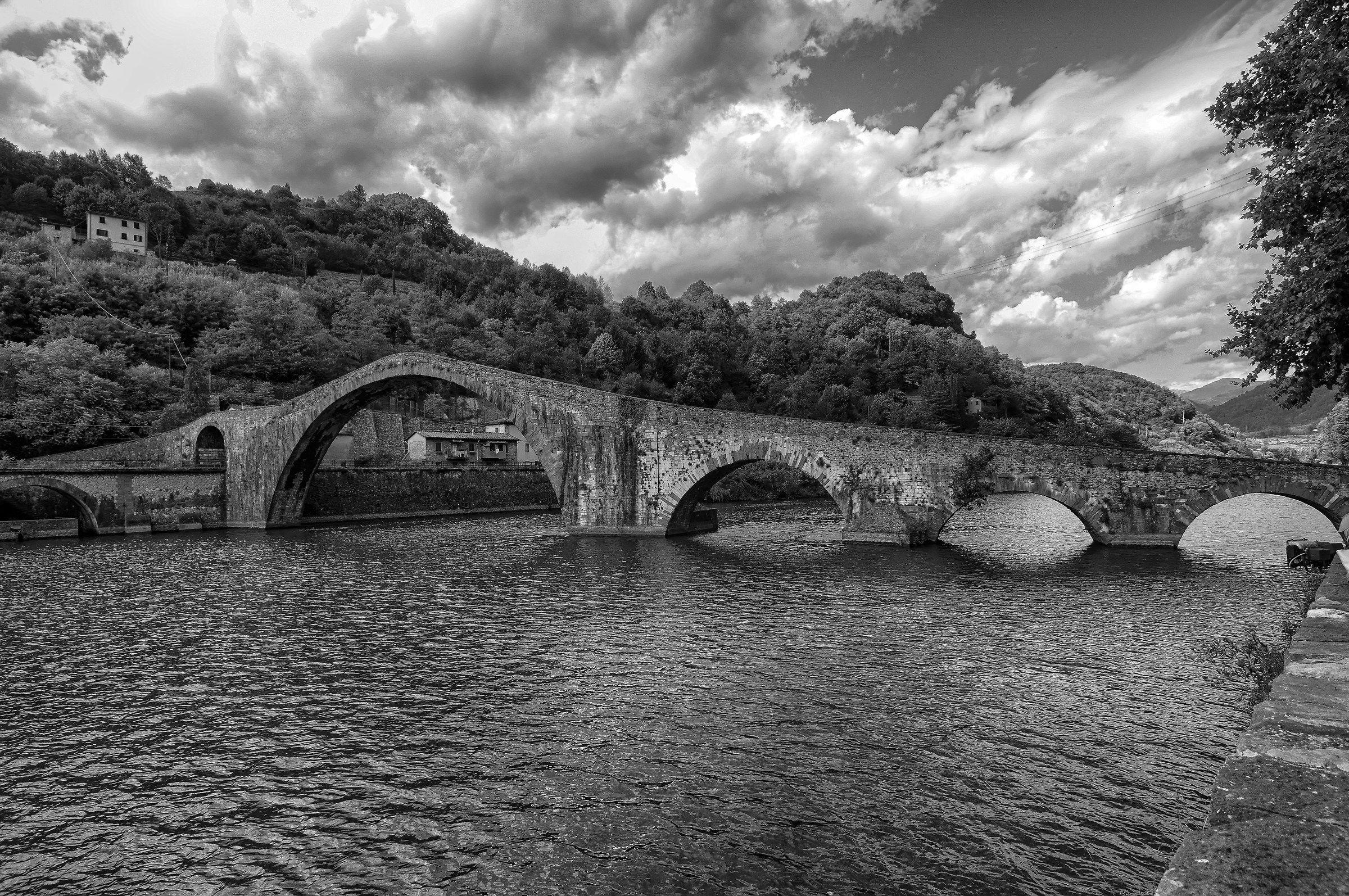 Ponte della Maddalena, Via del Brennero,Borgo a Mozzano...