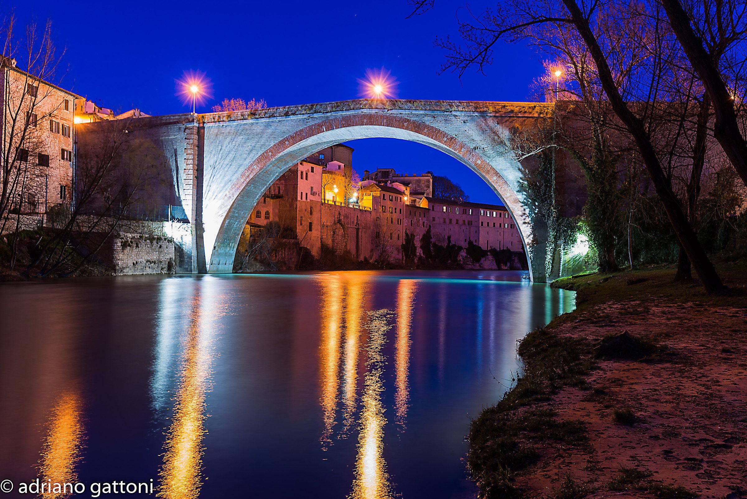"""Fossombrone, bridge of the """"Concordia""""..."""