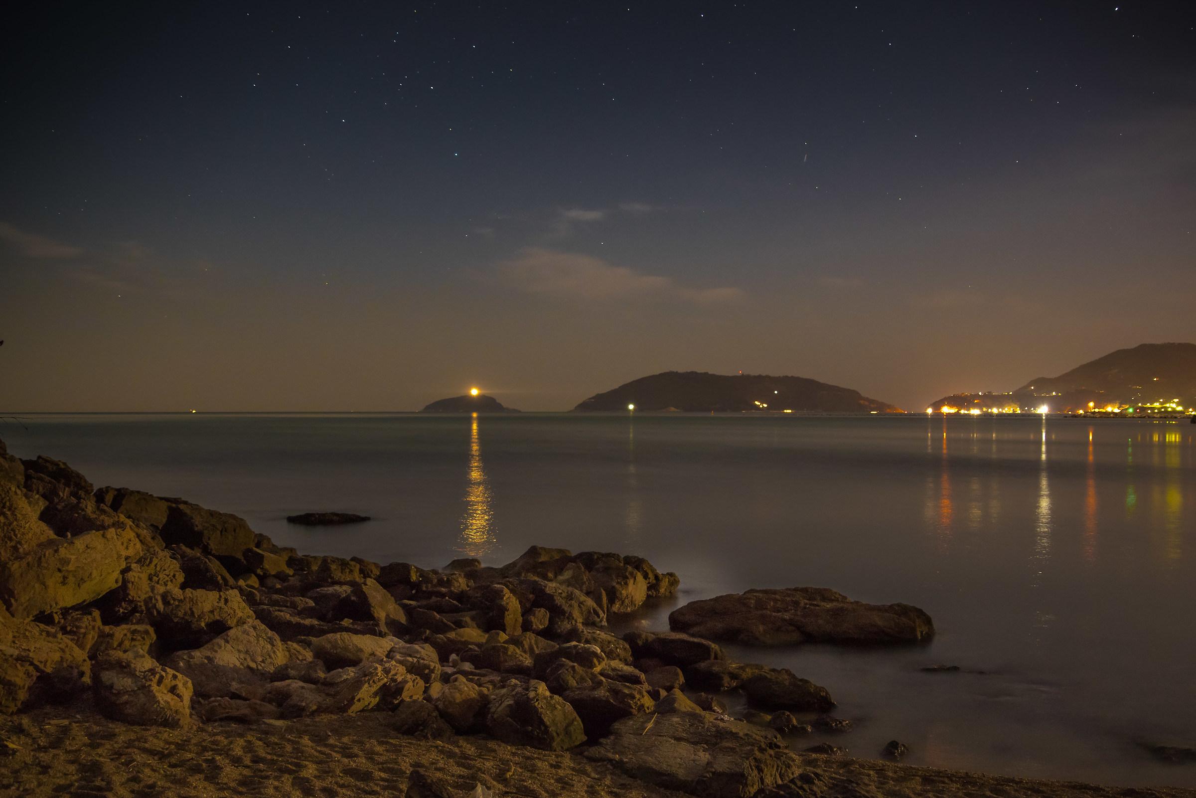 blue bay at night...