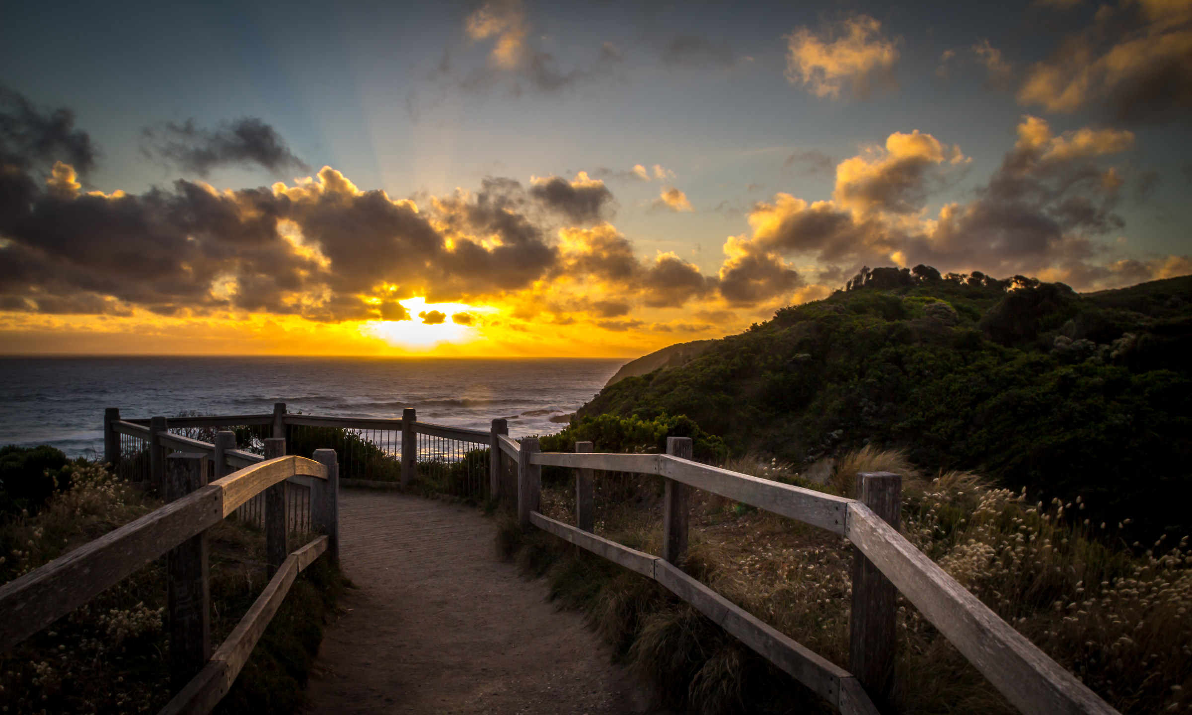 Sunset from the Great Ocean Road...