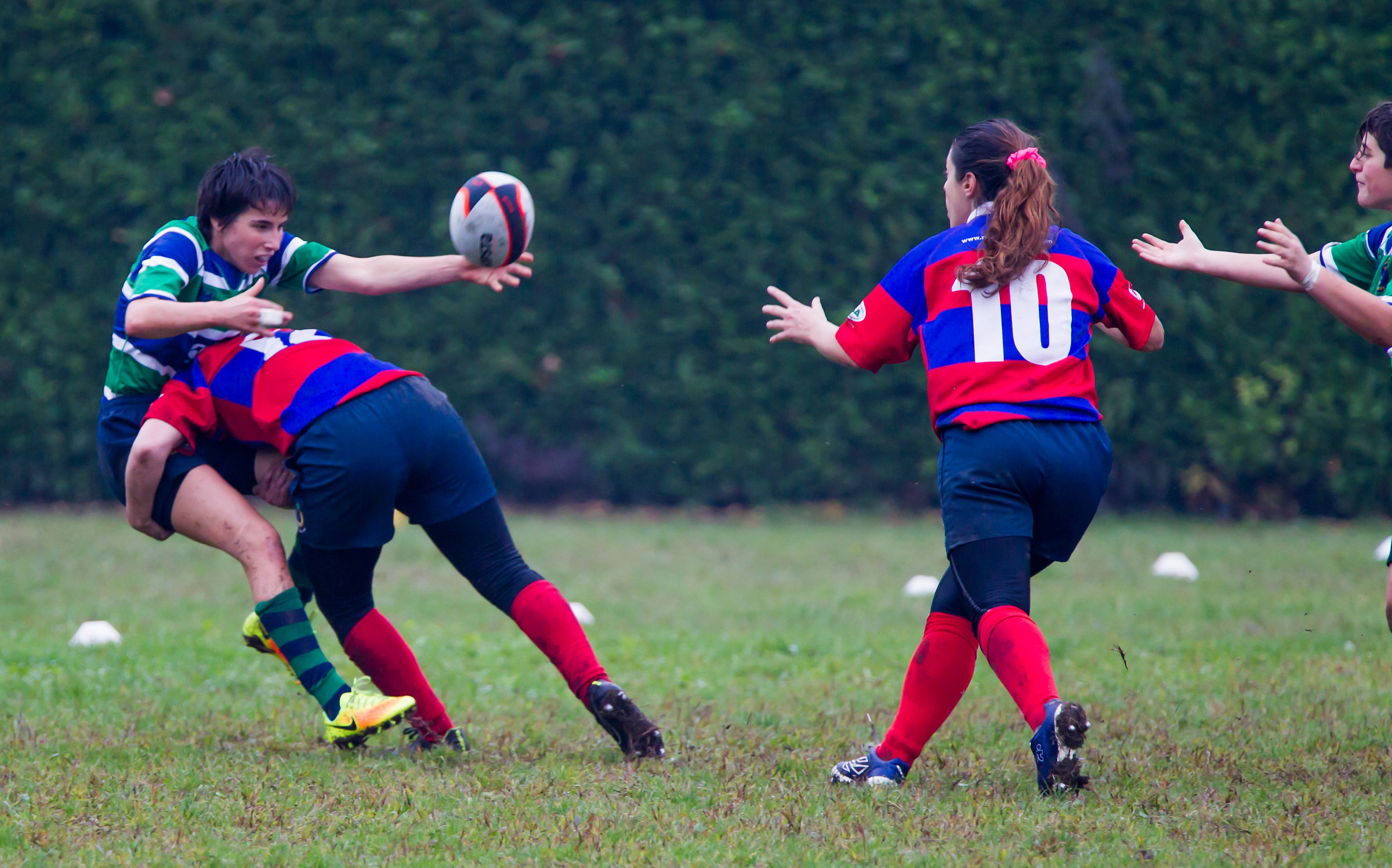 Rugby female. That determination!...