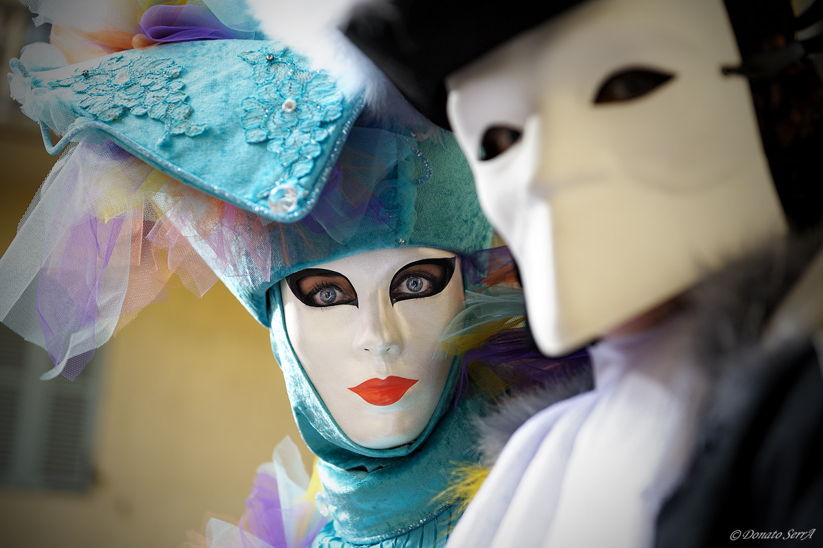 Masks in Rue Jean Jacques Rousseau...