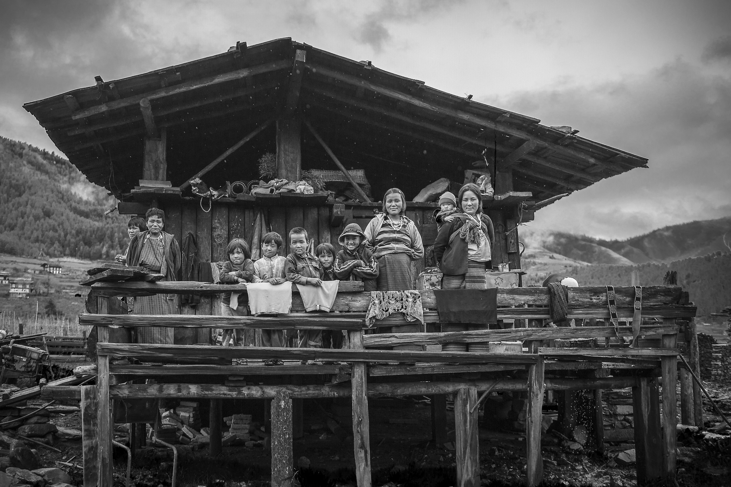 Buthanese woodcutter family III...