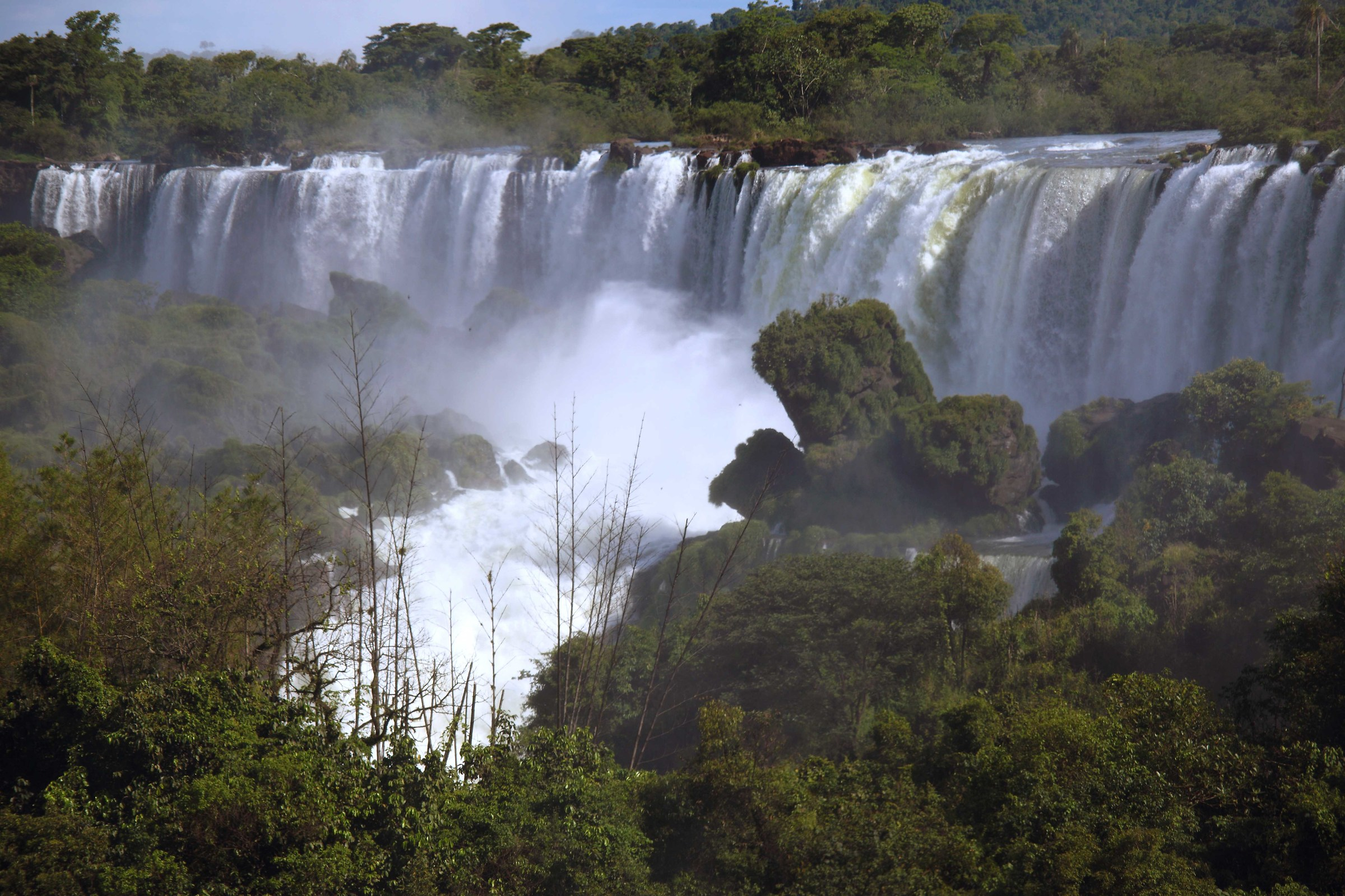 The Falls from the side Argentino...
