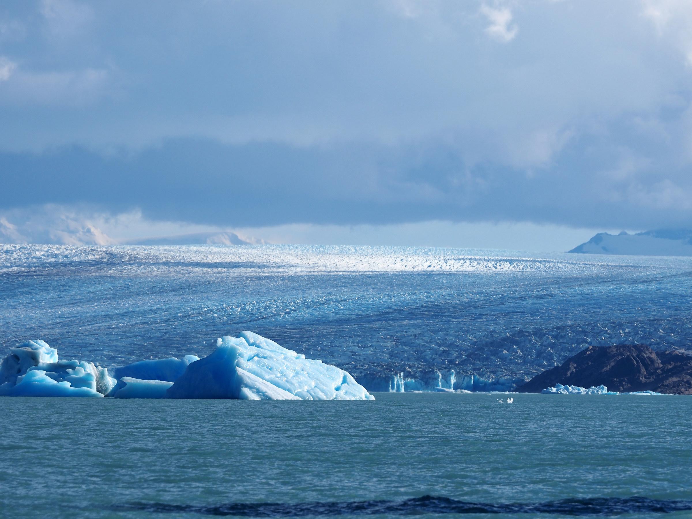 Parque Los Glaceres. Upsala Glacier from brazo norte...