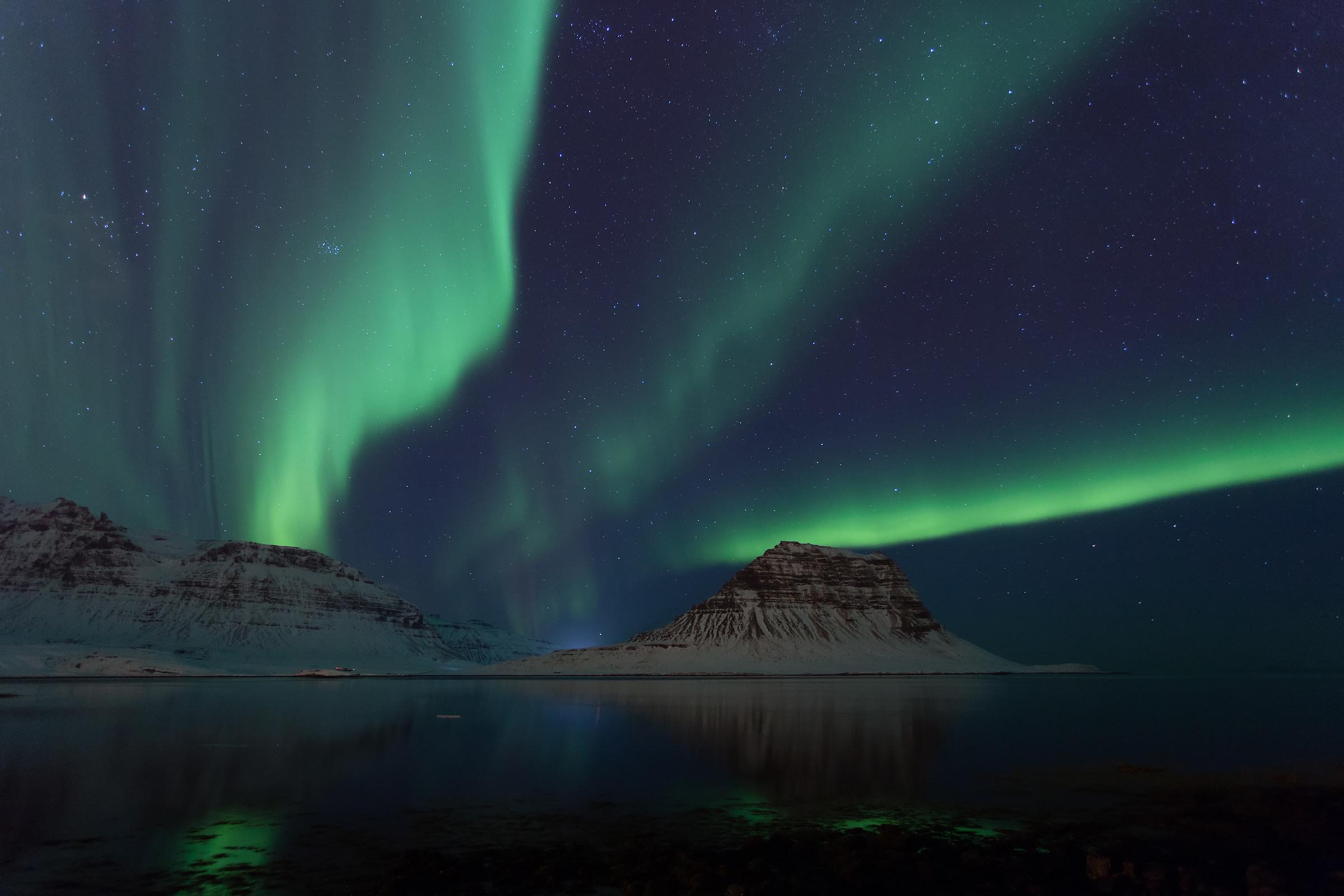 Aurora a Grundarfjörður...