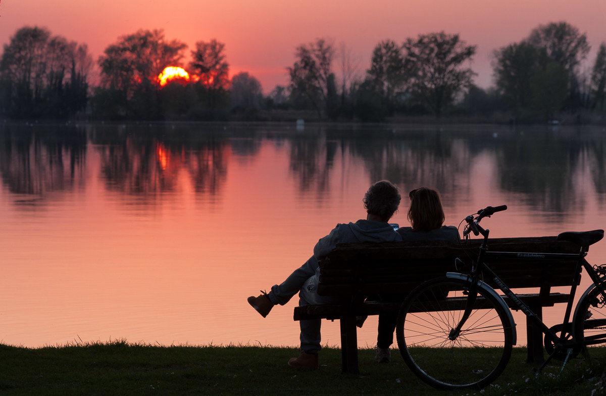 Social sunset...