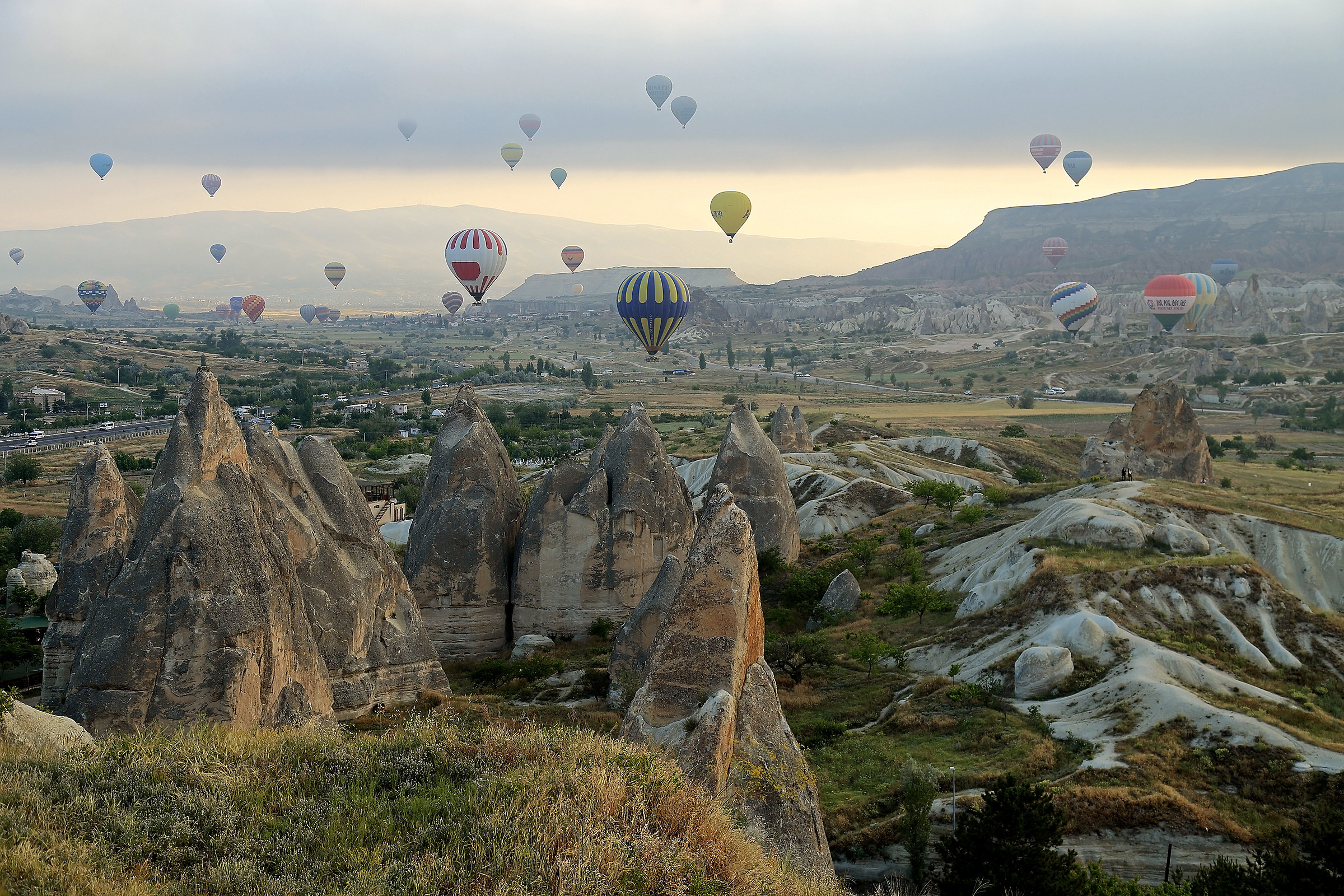 Countless balloons in the skies Göreme...