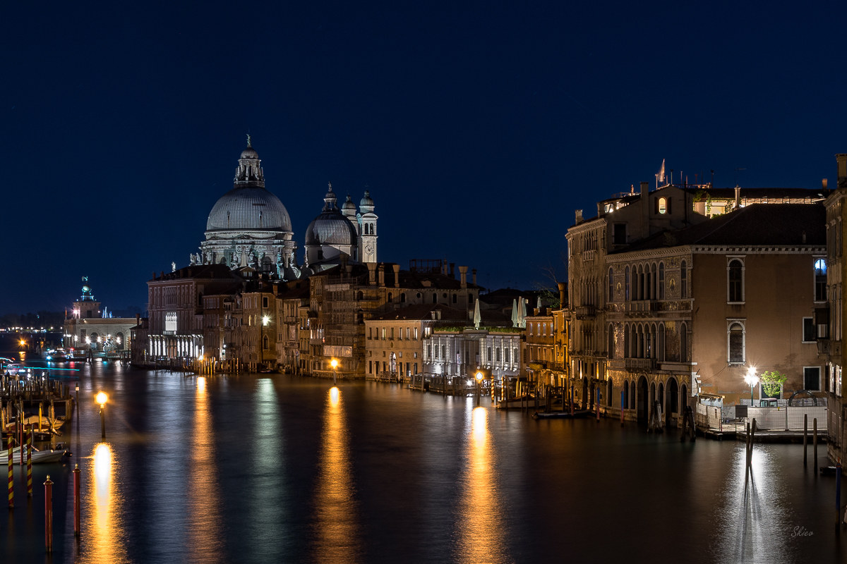 From the Accademia bridge ......