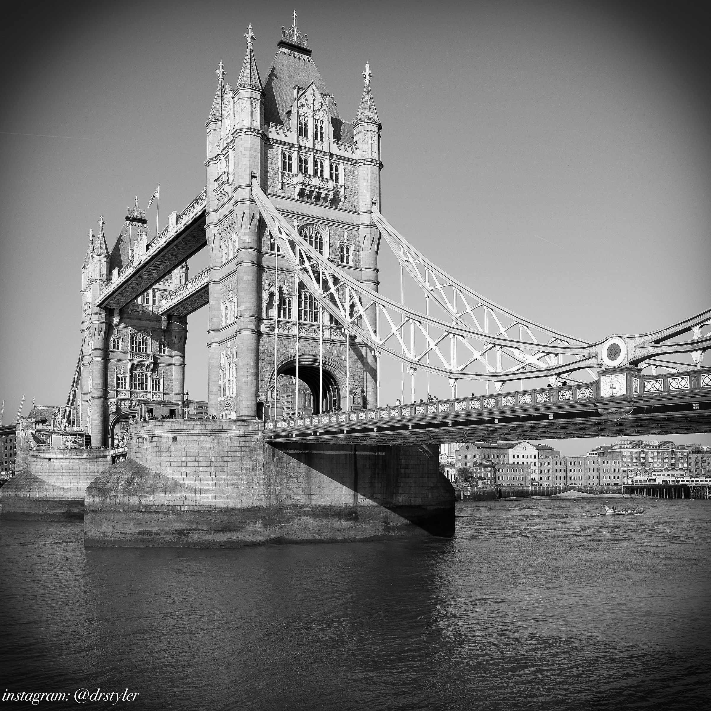 Tower Bridge in B & W...