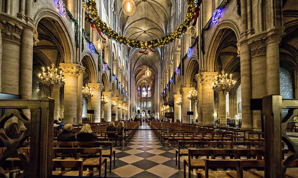 Inside Notre Dame de Paris...