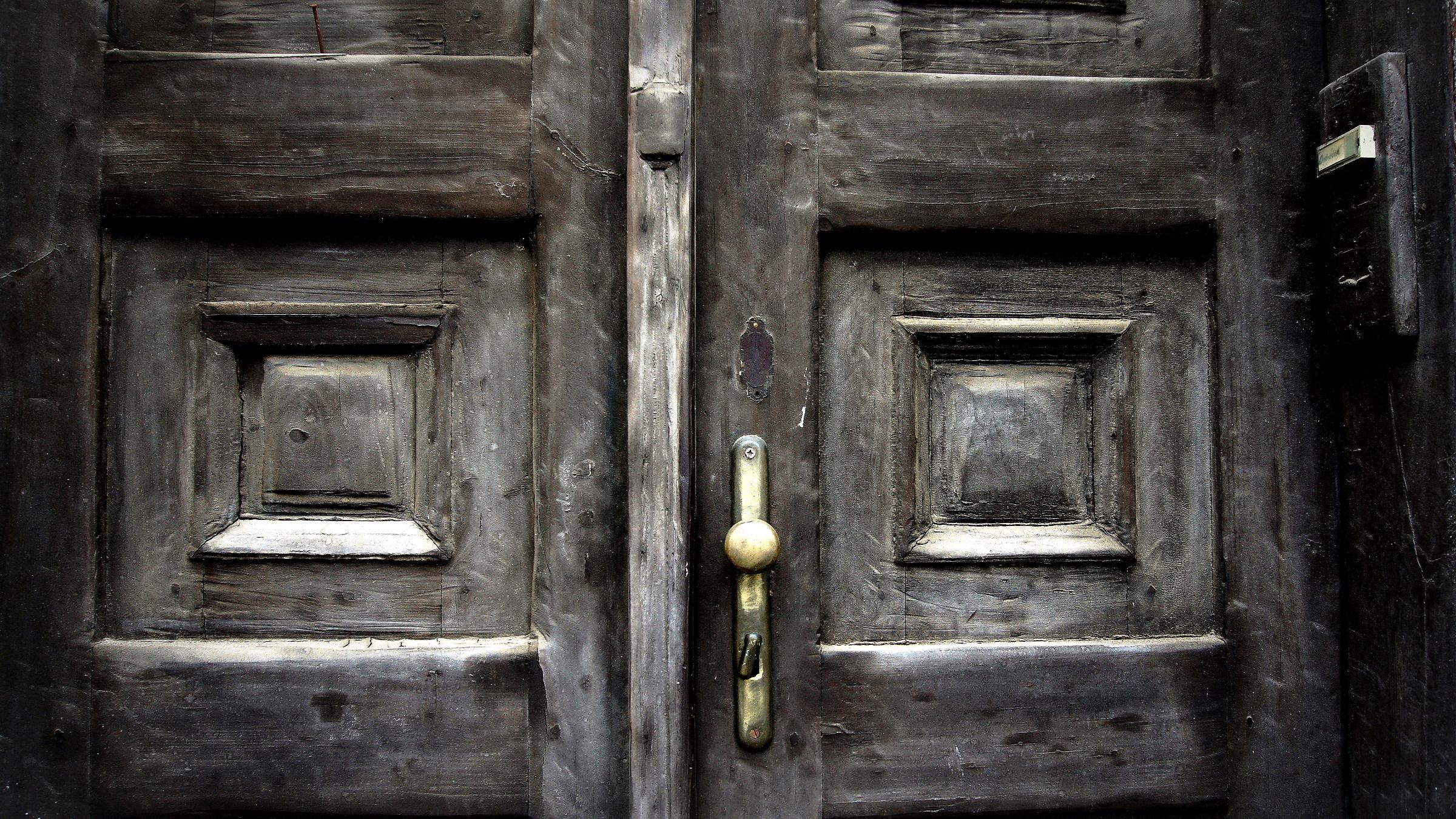 Gray door....