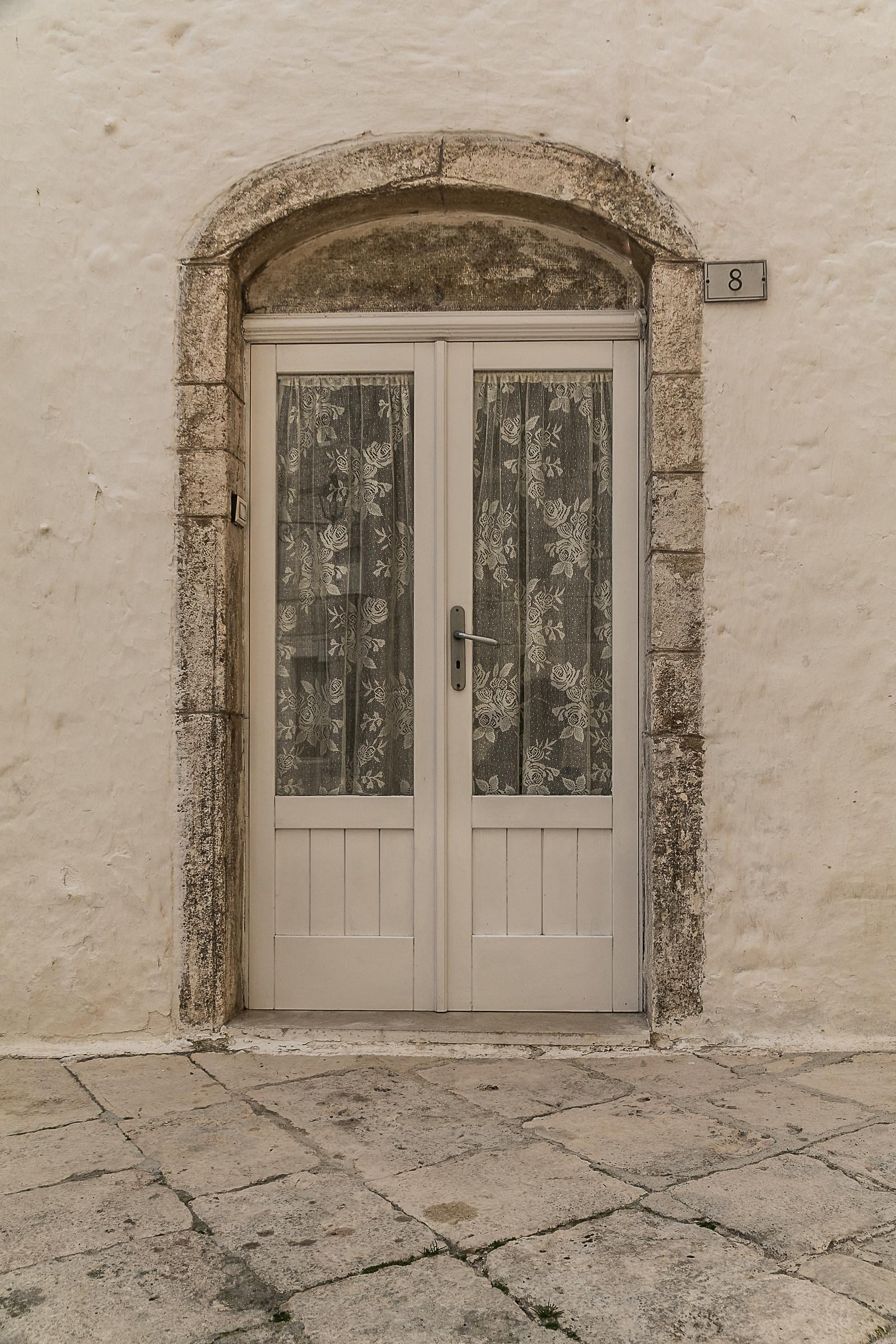 white door...