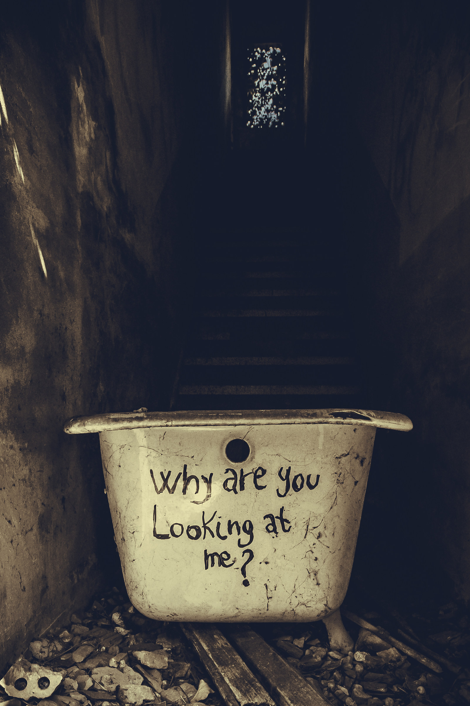 Why are you looking at me?...