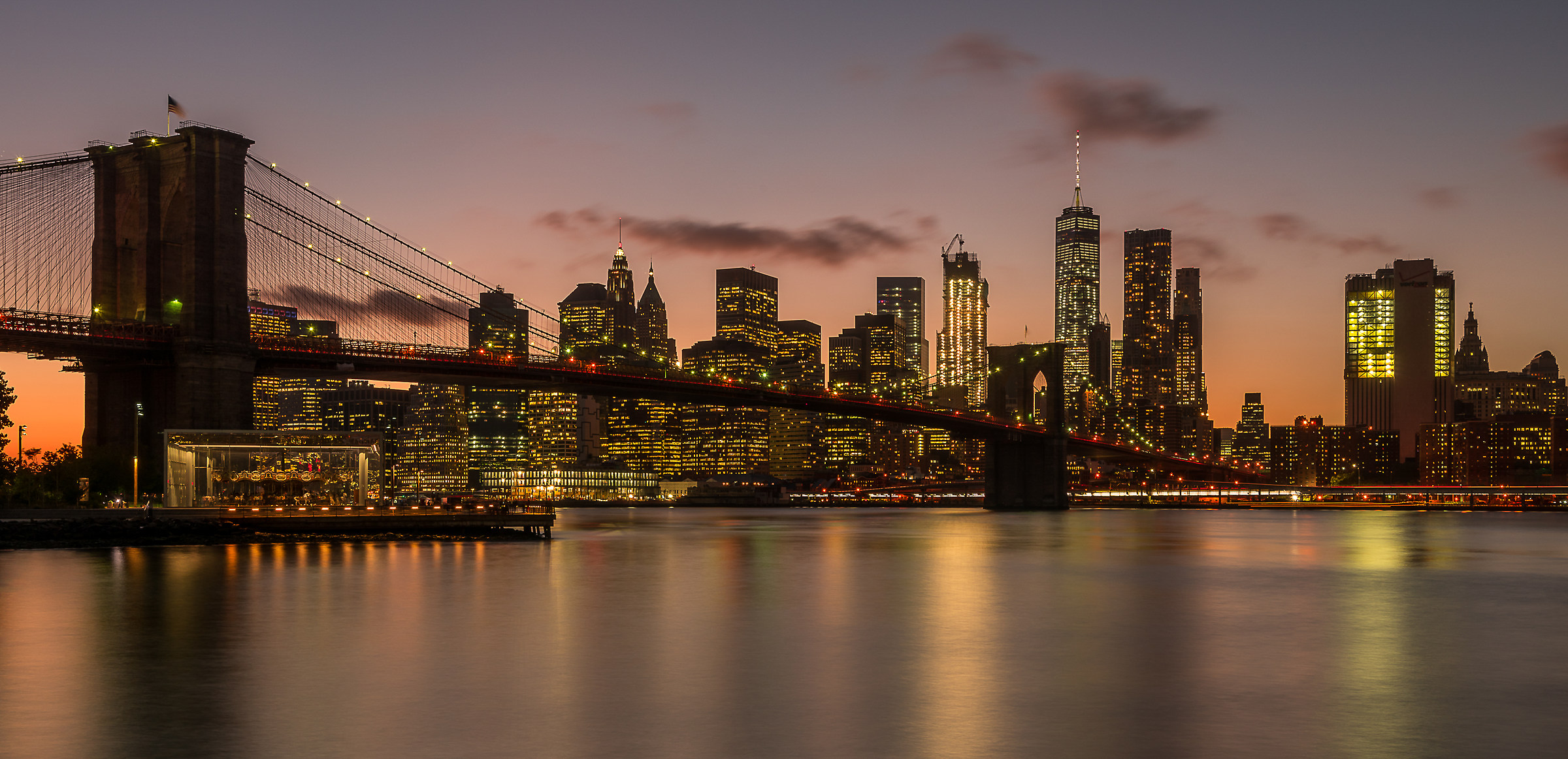 The Skyline from Brooklyn Heights to Dumbo...