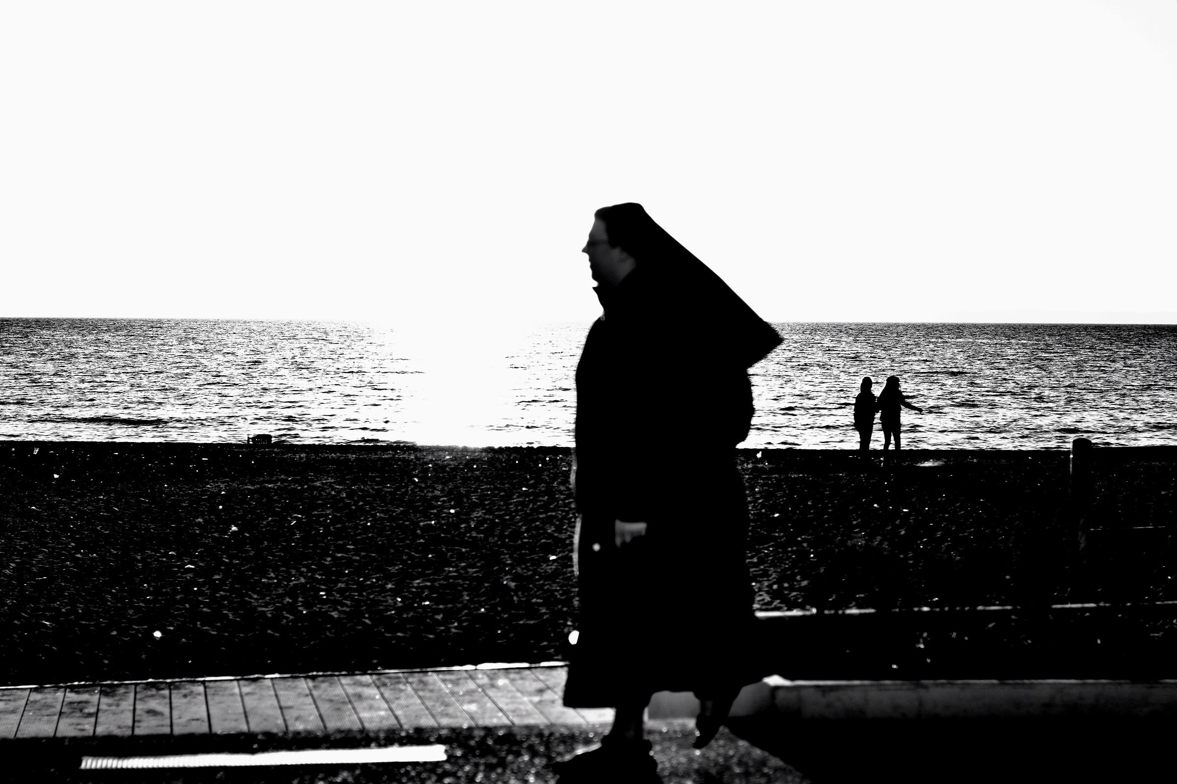 Nun Walking...