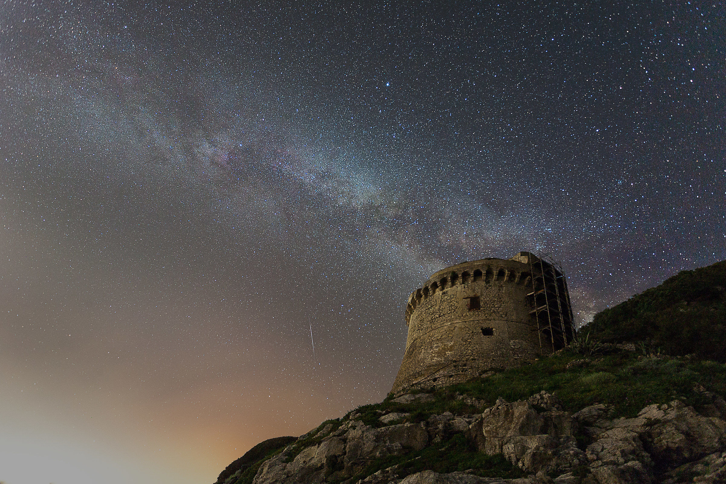 Milky Way above Torre Paola...