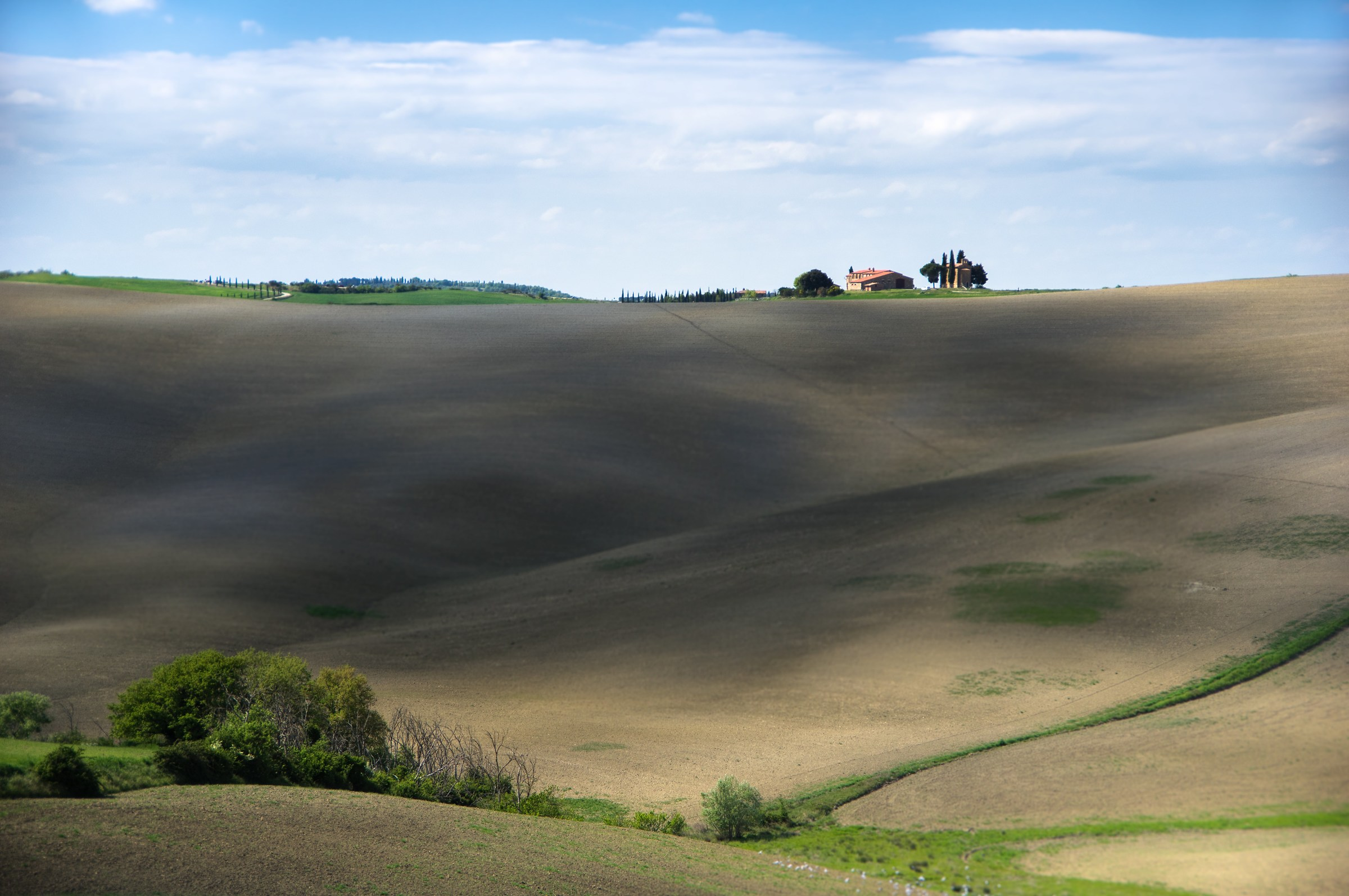 Val d'Orcia, shapes and colors...