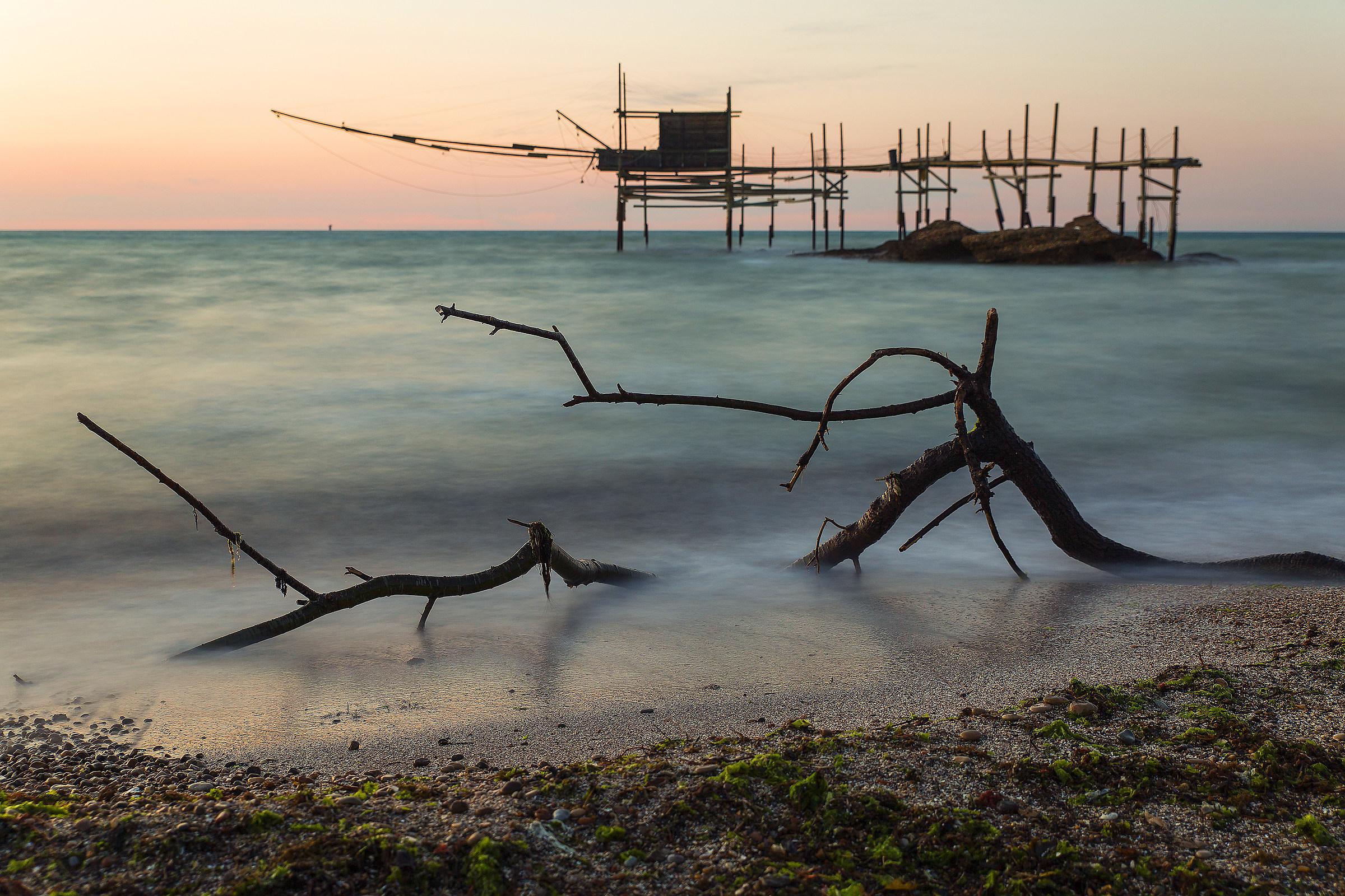 Sunset at Punta Aderci Natural Reserve...