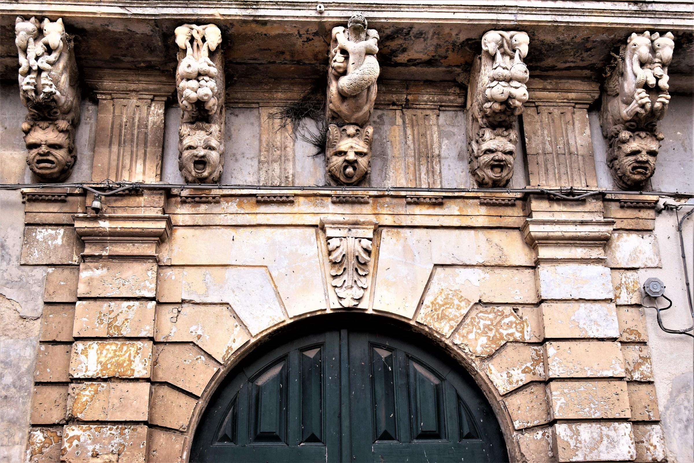 Corbels Baroque Palazzo Judica (now Caruso)...