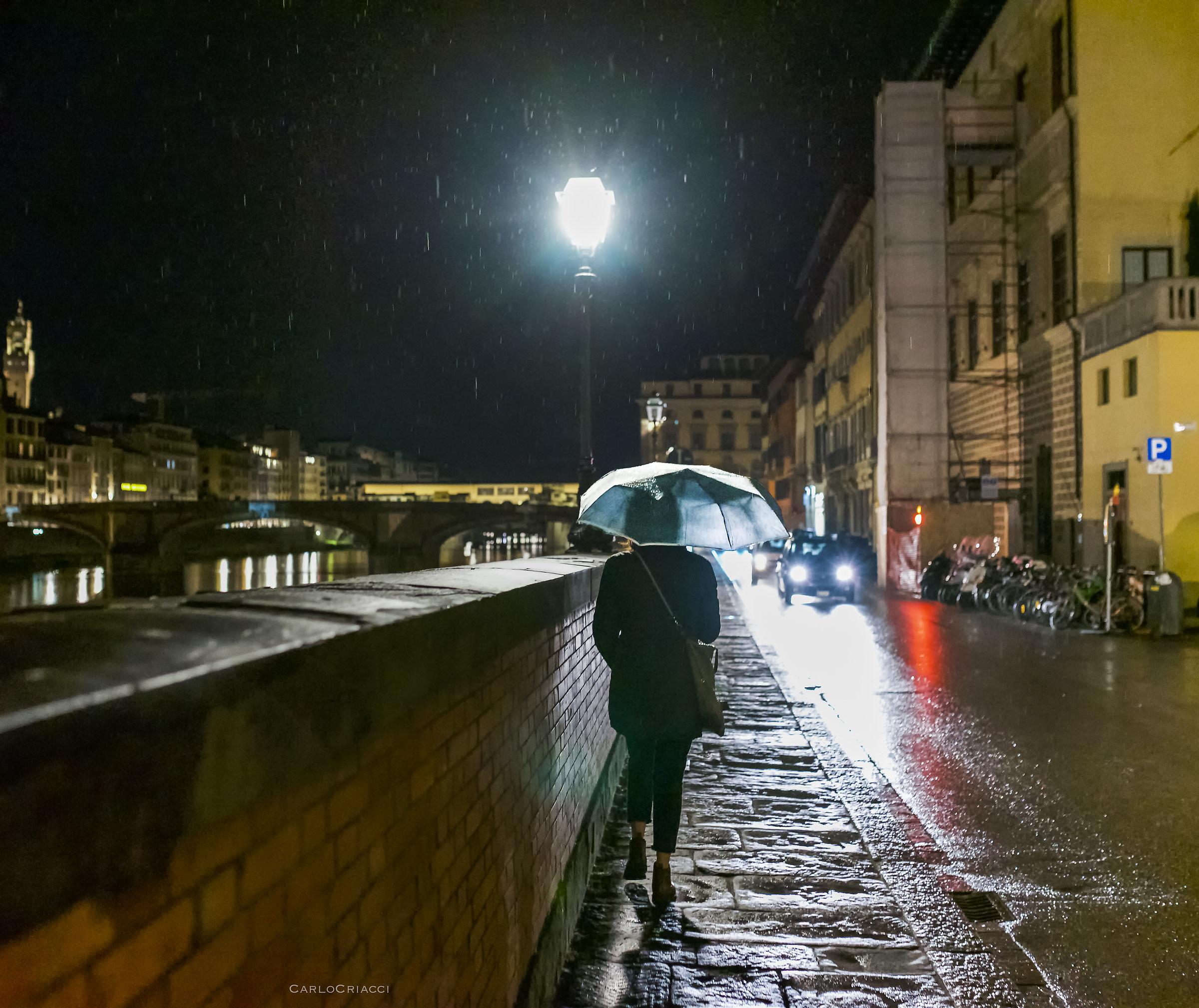 Romantic walk in the rain...