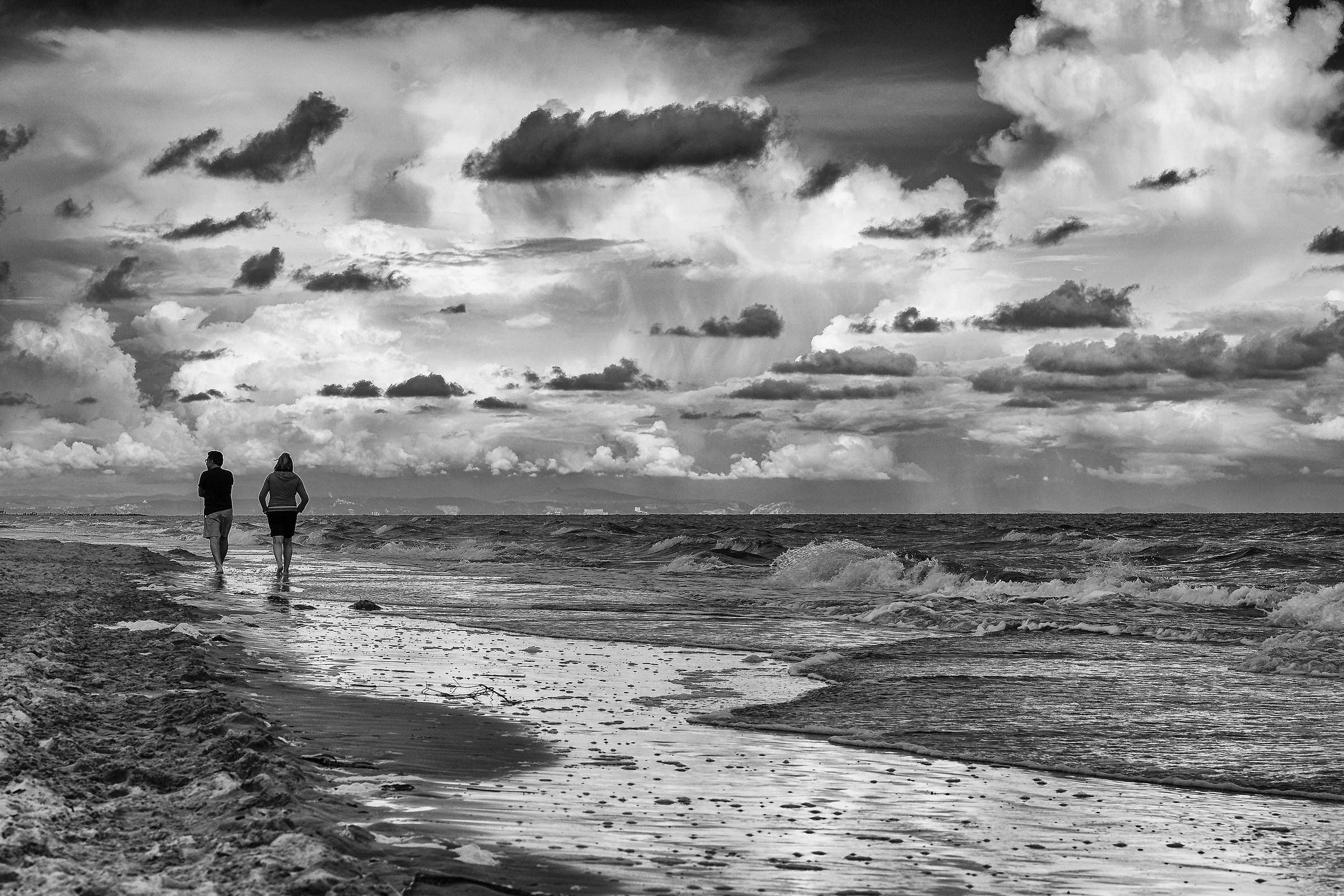 Walking on the beach...