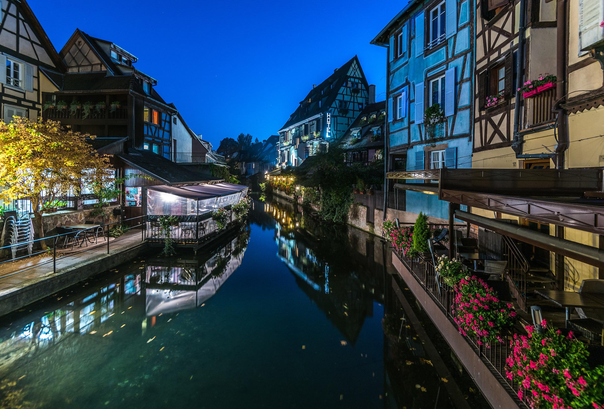 Alsace: Colmar Little Venice. blue hour...