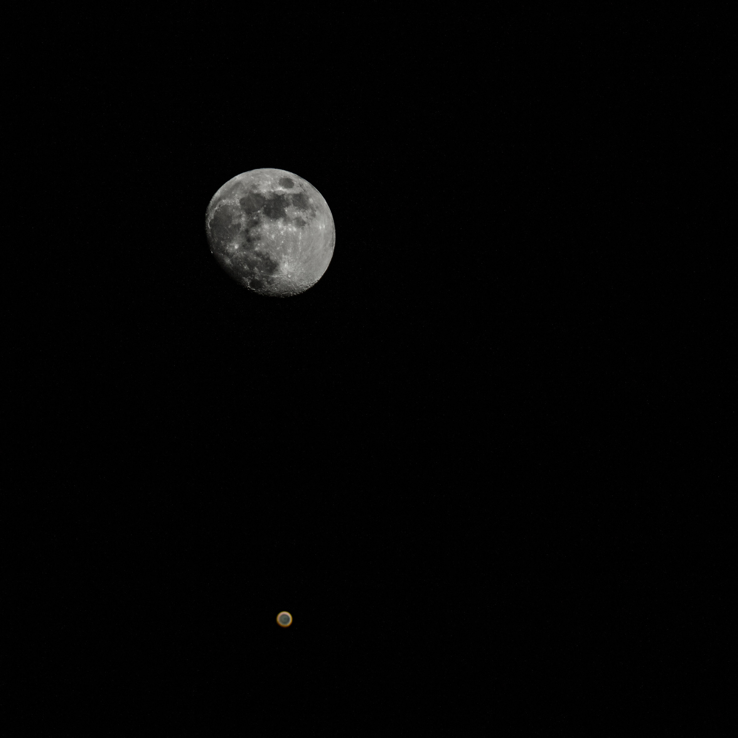 The Moon and Mars...