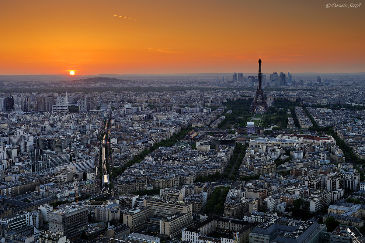 Sunset from Montparnasse Tour...