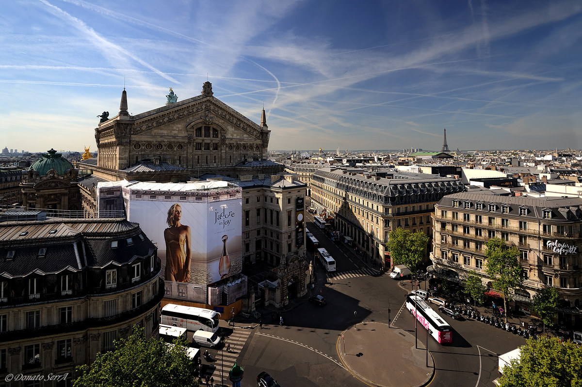 Paris view from the roof of Galeries Lafayette...