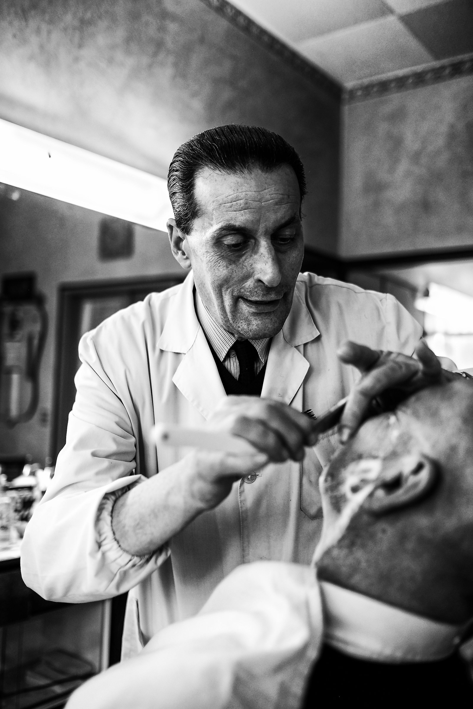 the barber...