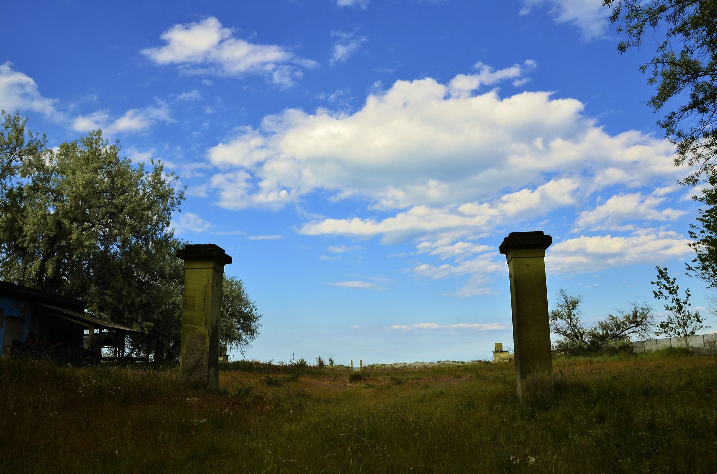 Between columns...