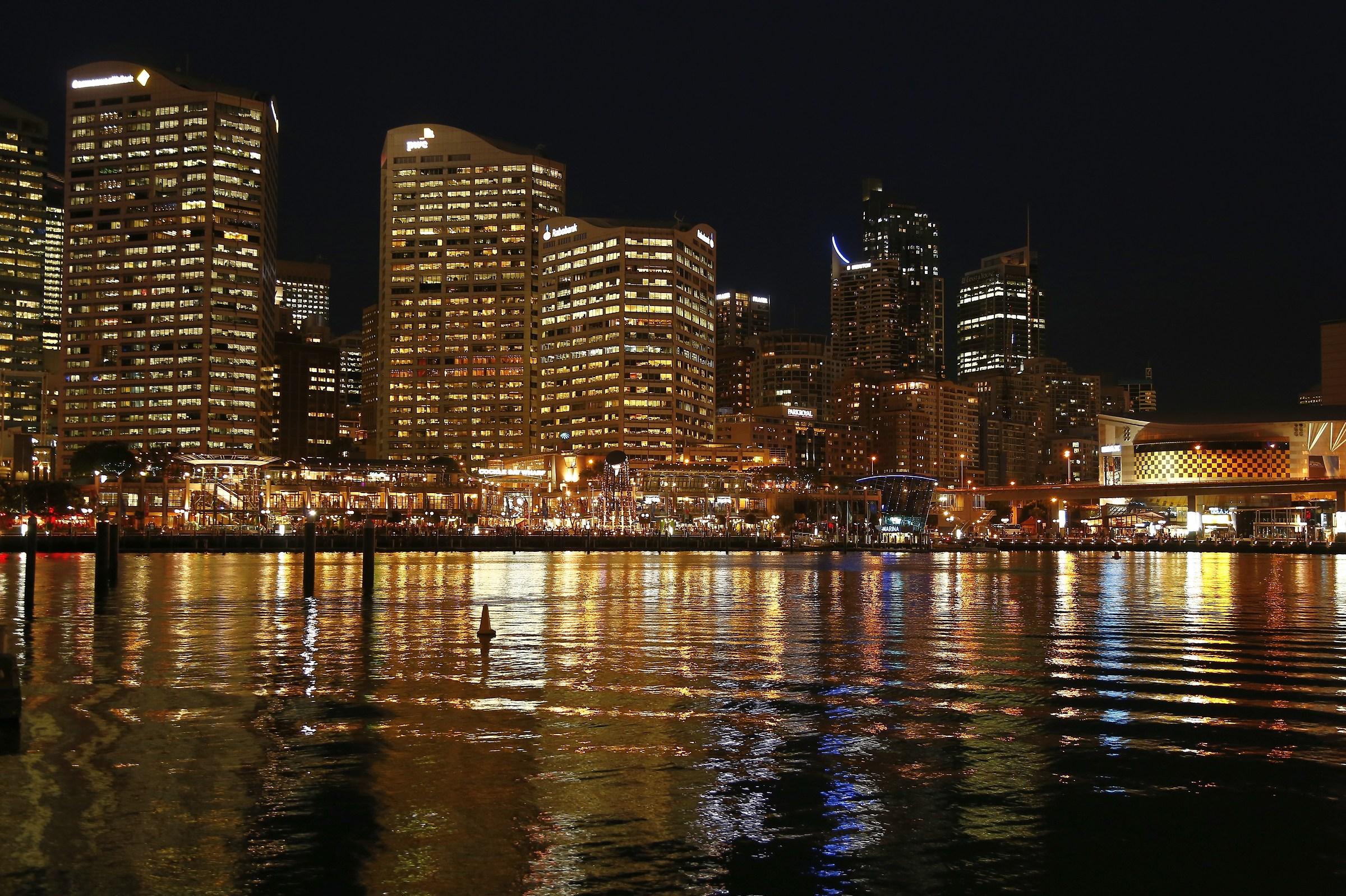 The night magic in Sidney...