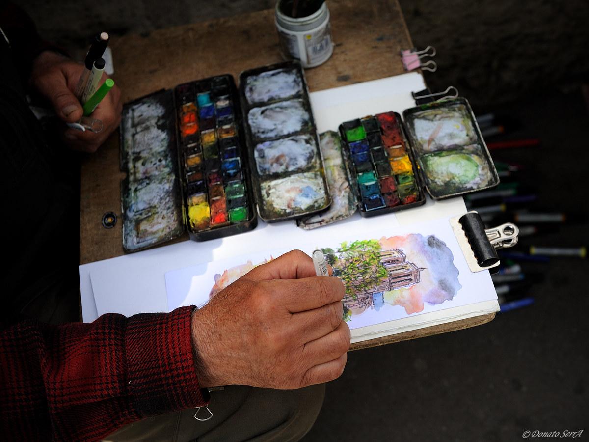 Hands that paint...