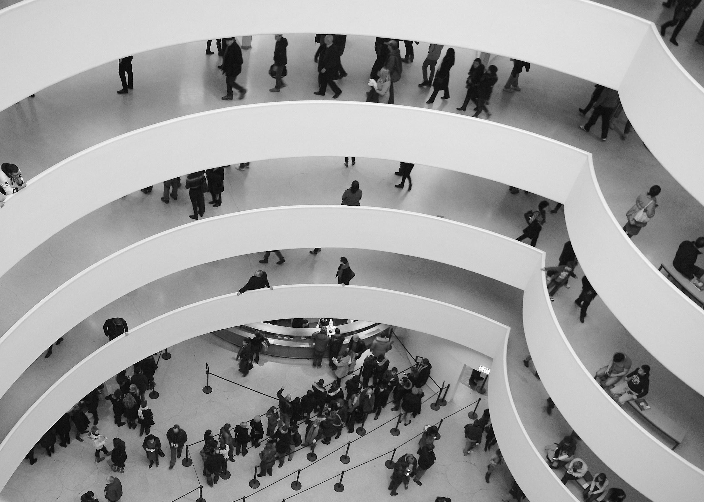 Guggenheim in dark light...