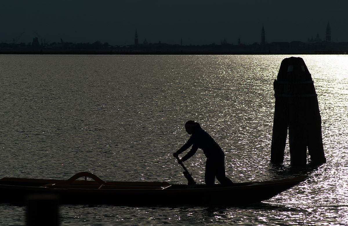 Aspettando il tramonto in laguna...