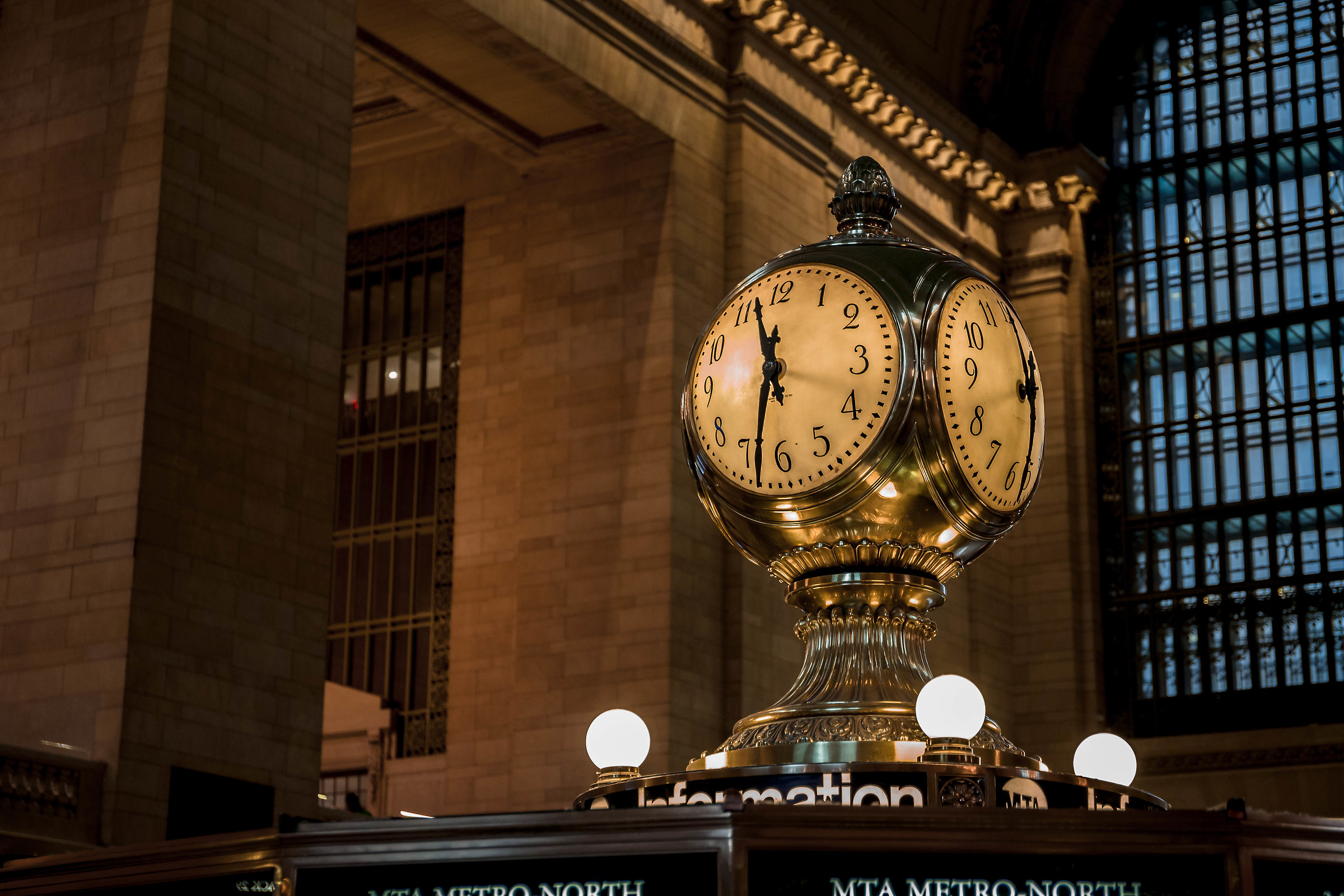Grand national station's clock, NY...
