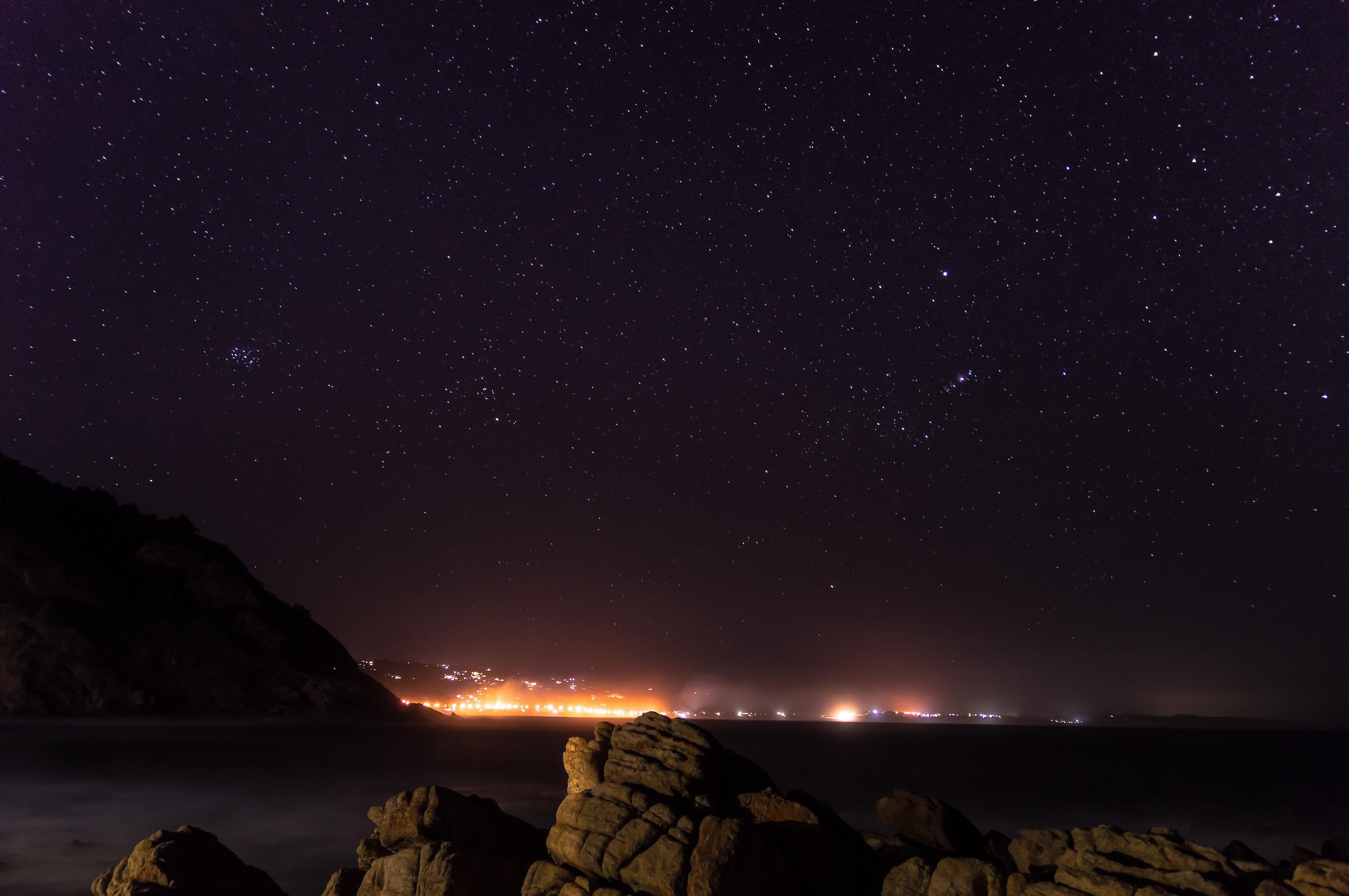 Orione e Pleiadi al contrario...