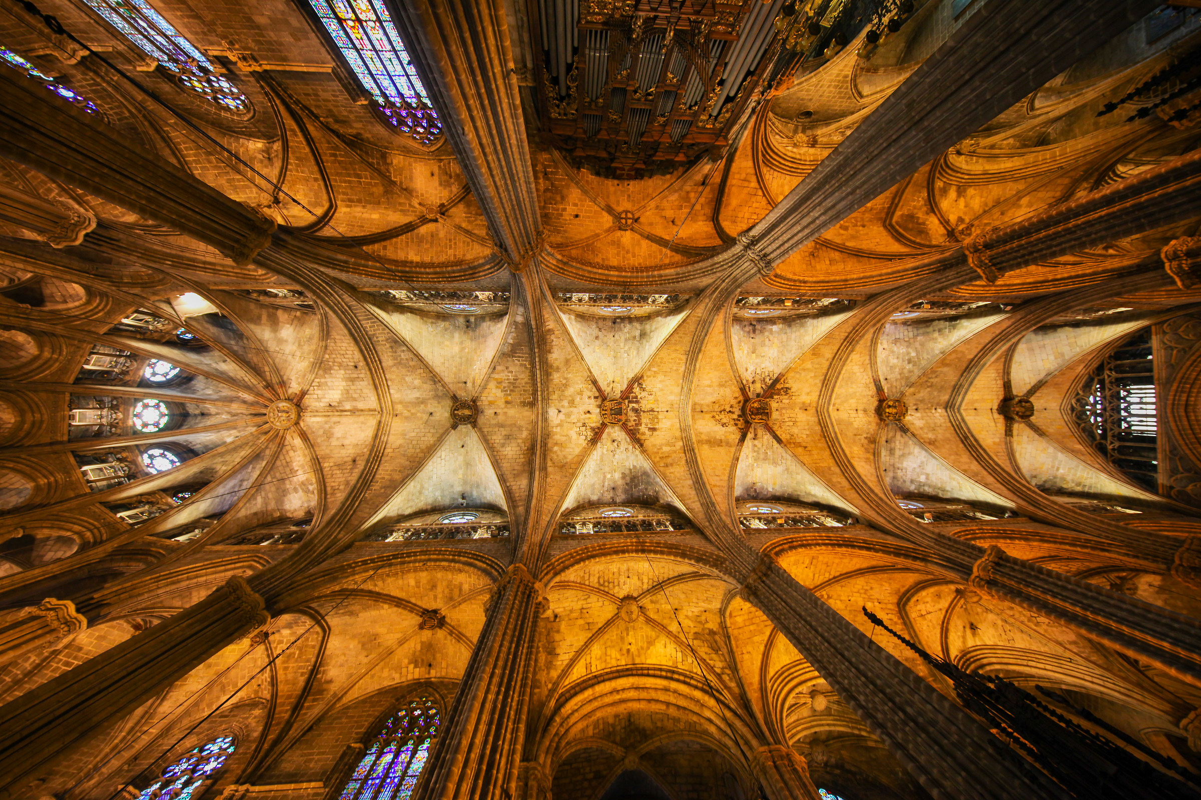 The Cathedral of Barcelona...