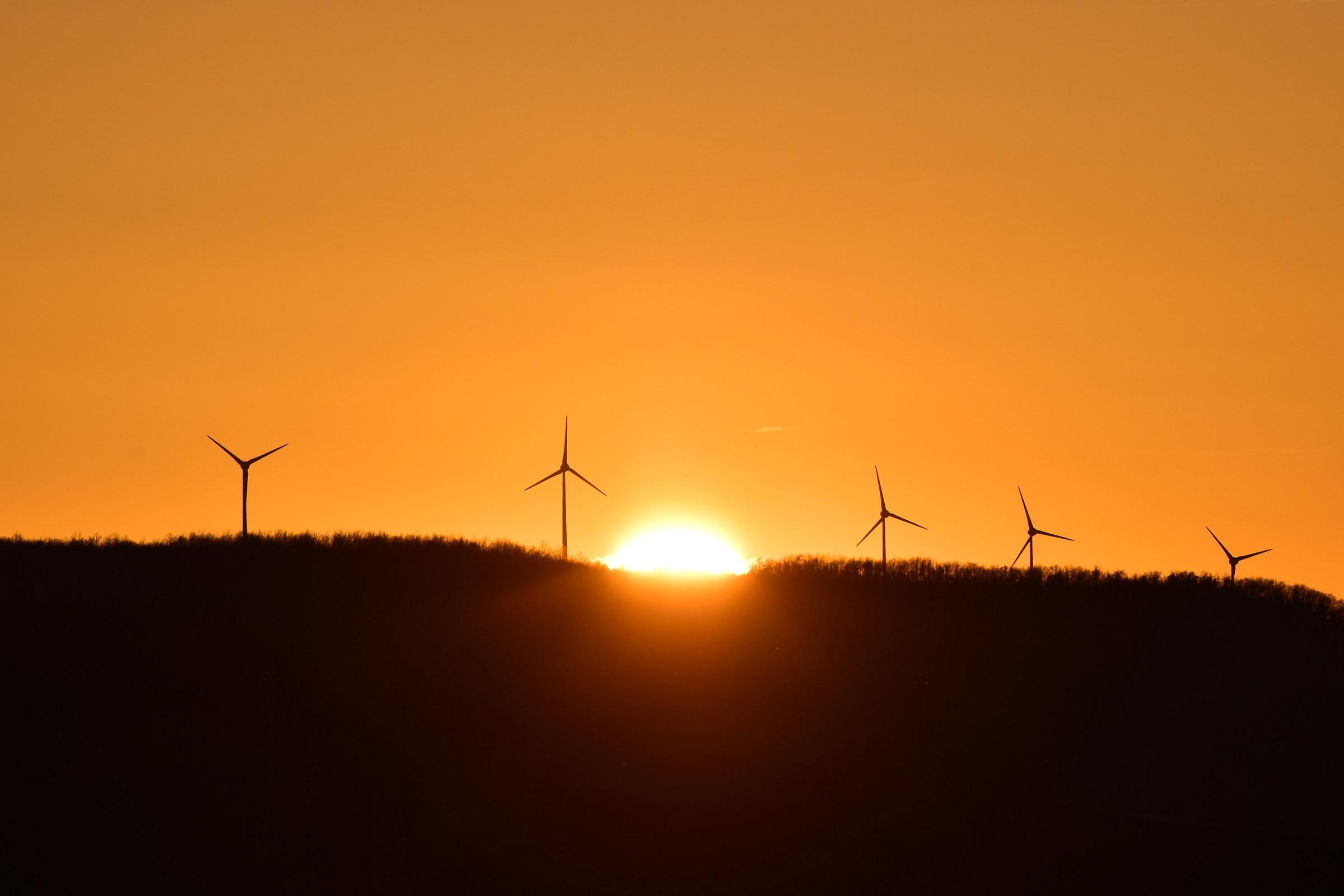 Wind turbines...