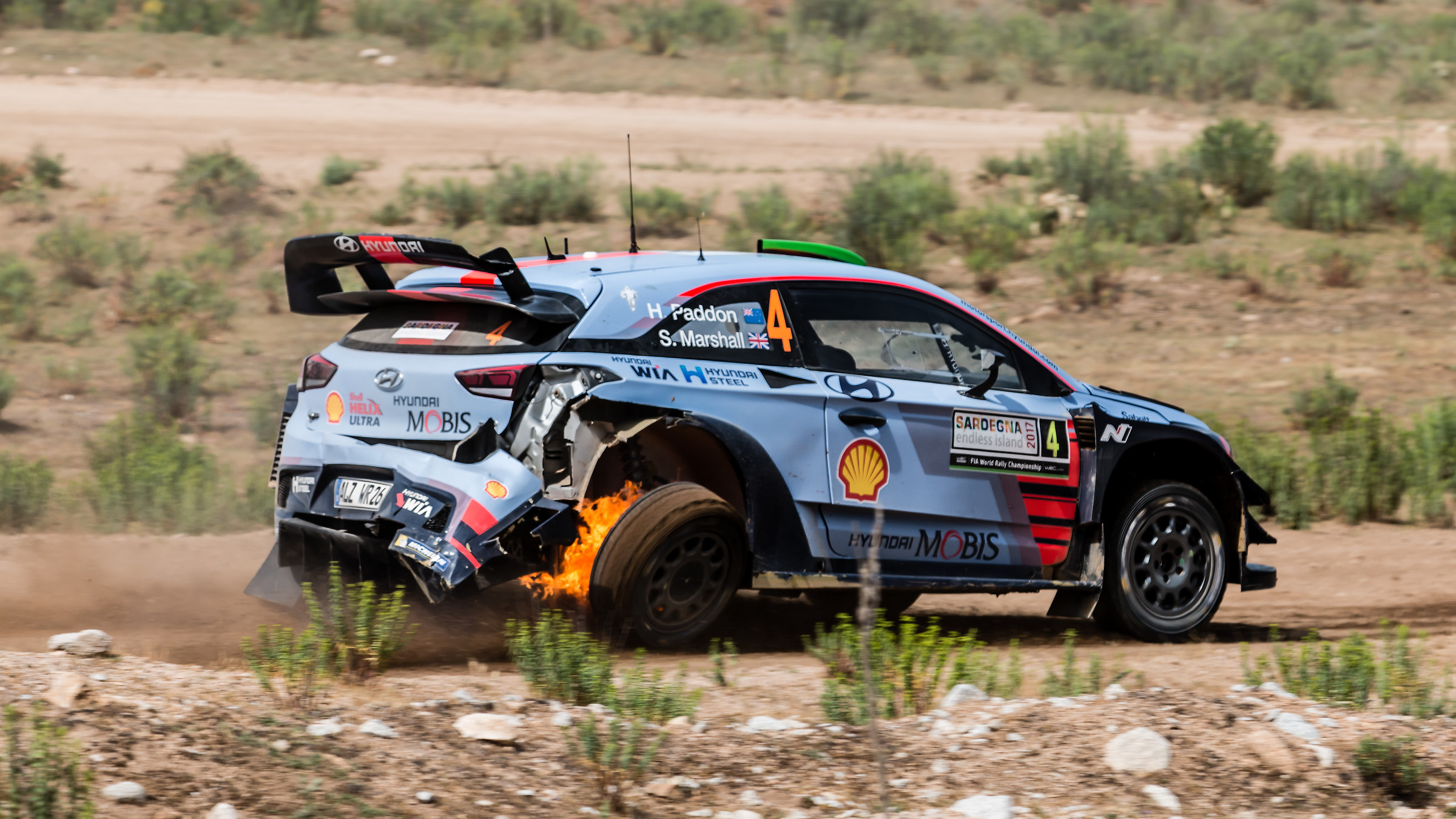 Hayden Paddon Rally Italy Sardinia 2017...
