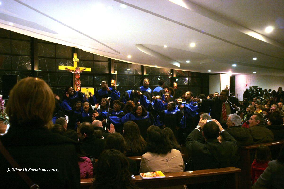 Mass at the American, but Italian organization ......
