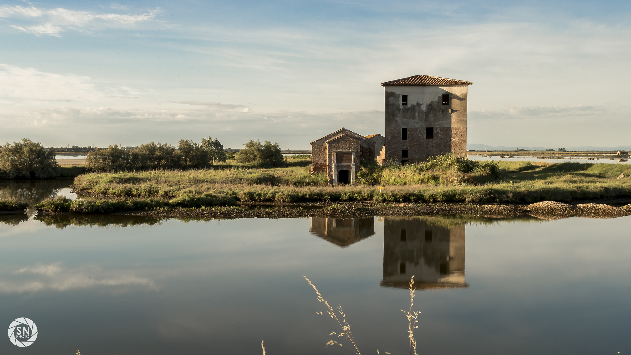 Ruins of valley of comacchio...