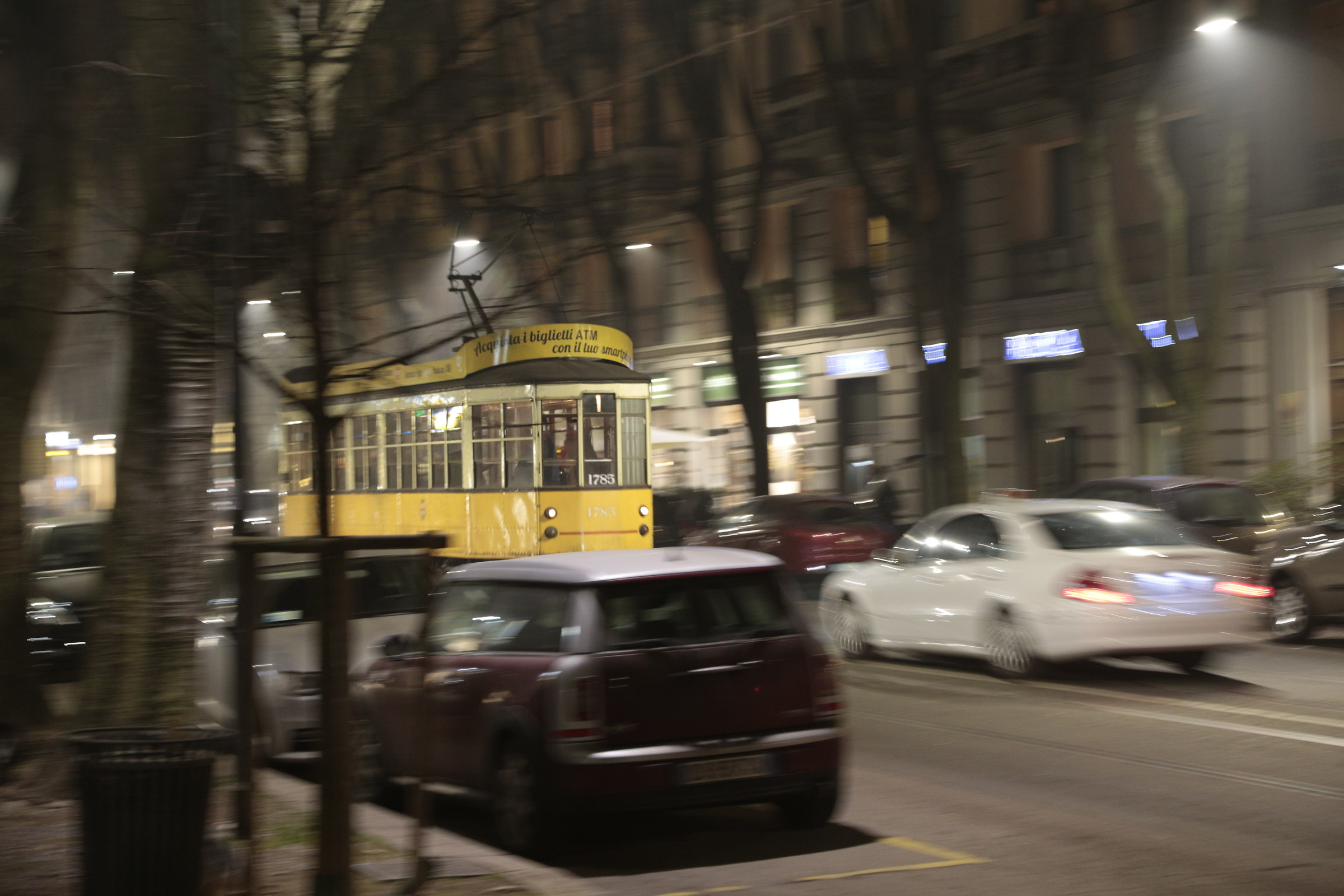 the tram...