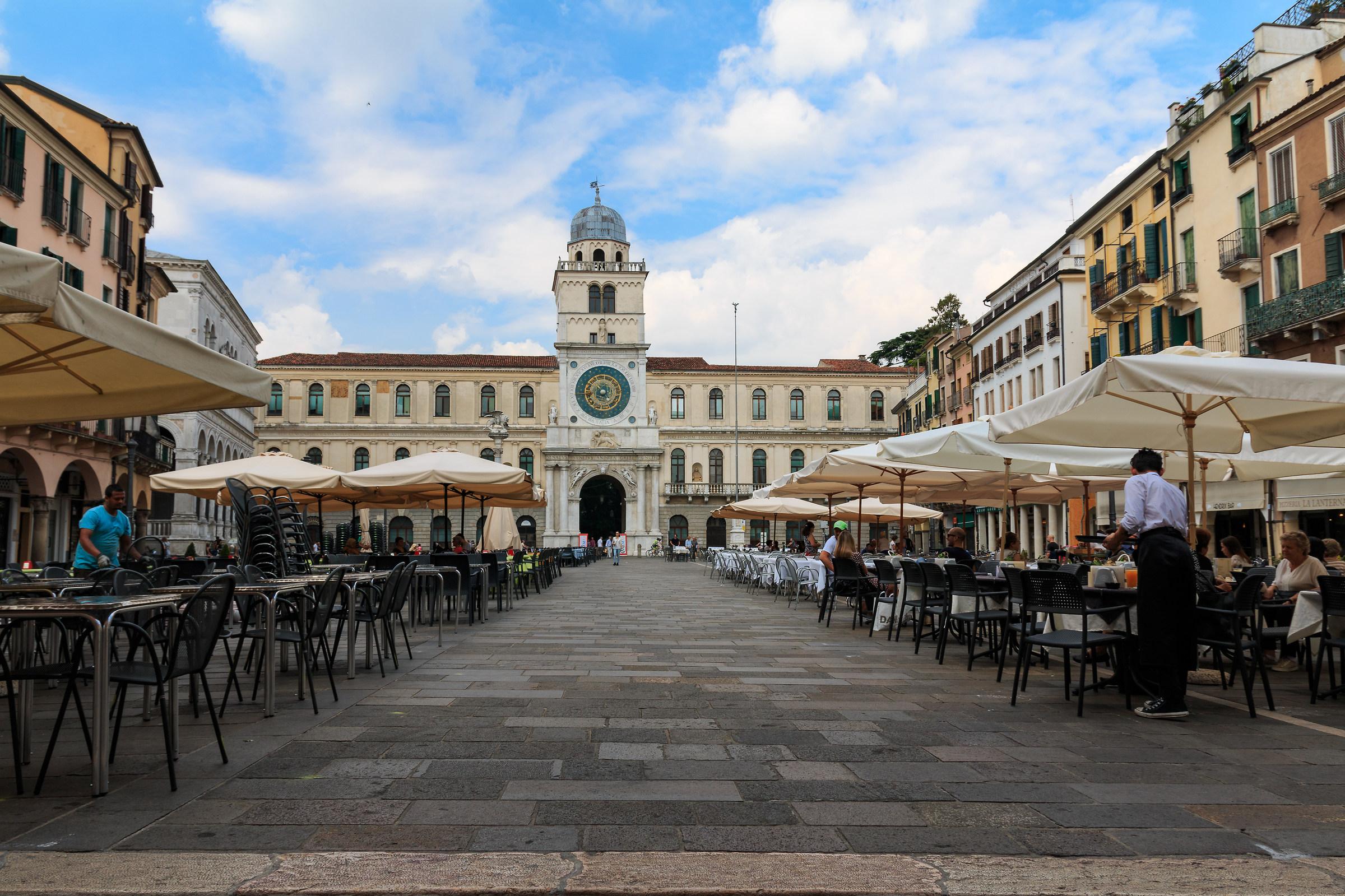 Padua square of the clock...