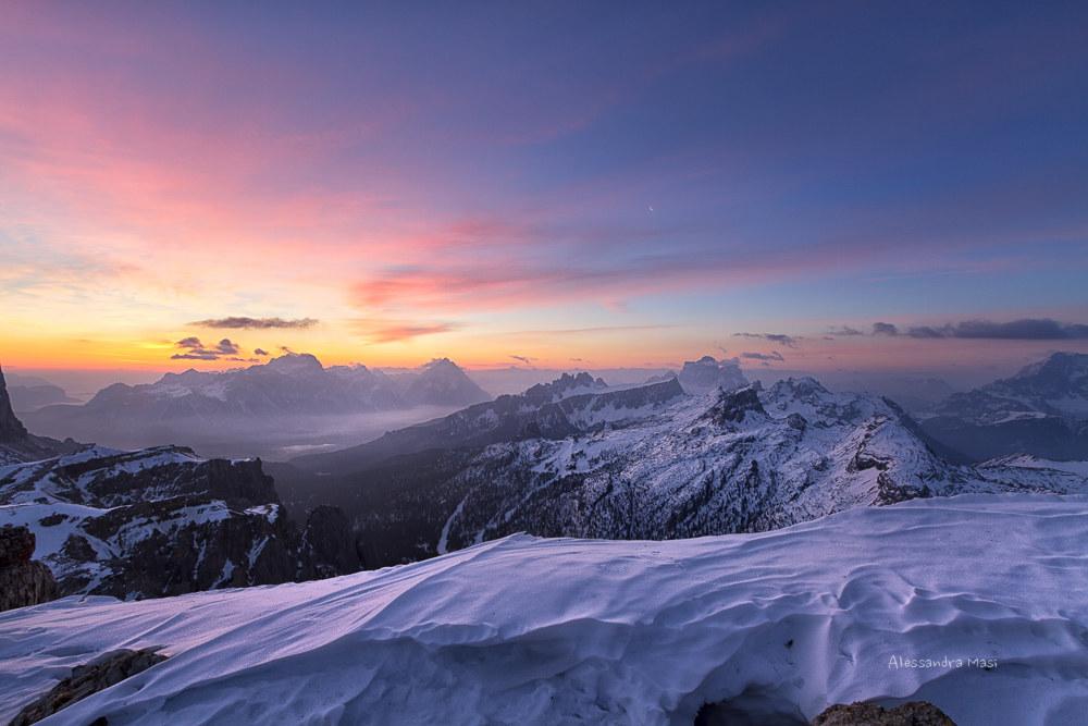 Sunrise from Lagazuoi...