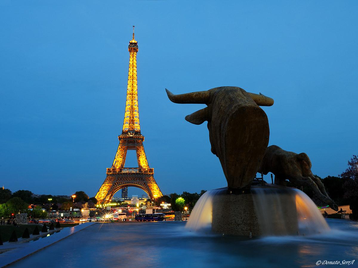 Eiffel Tower seen from the Trocadero...