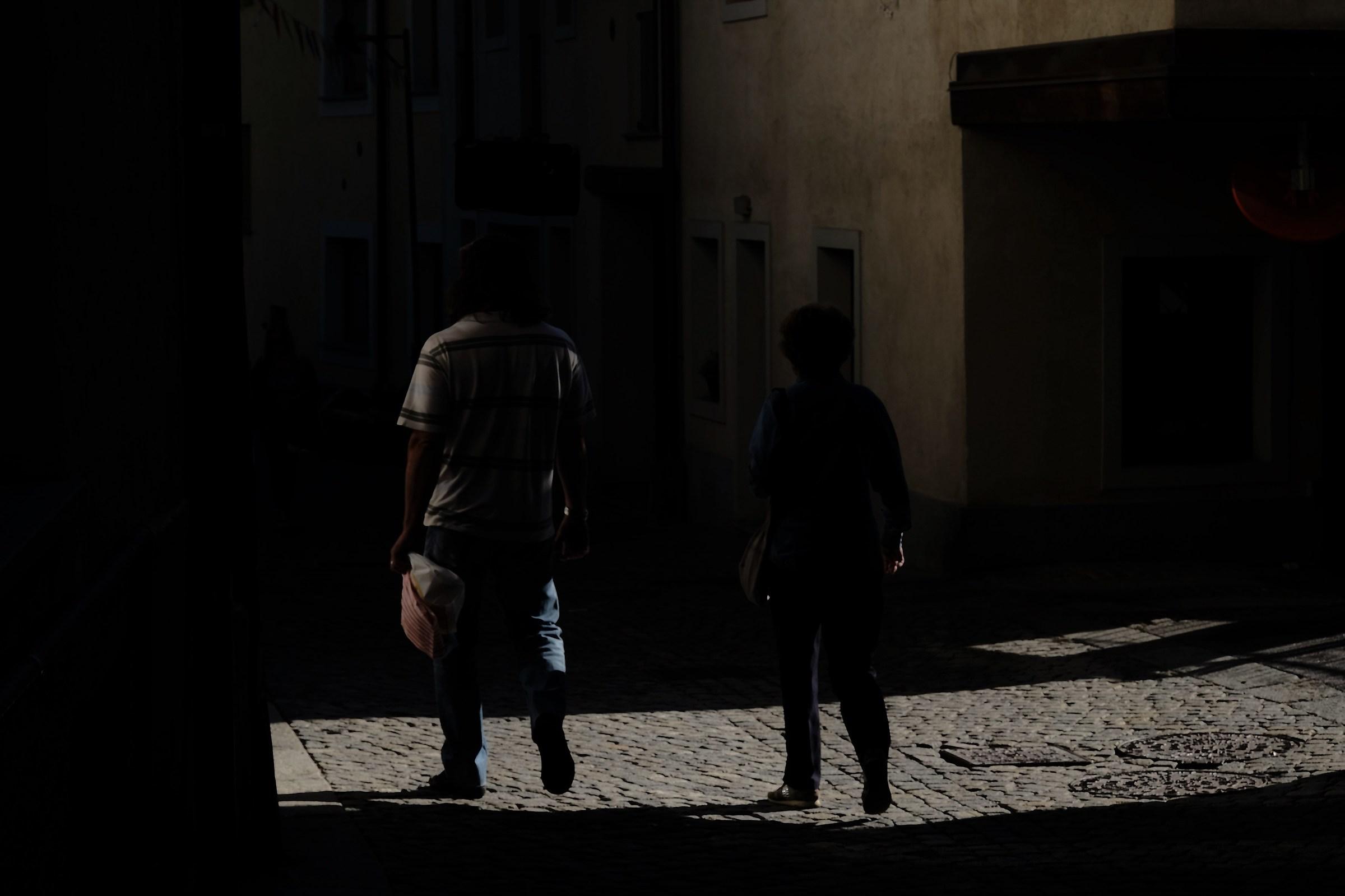 Shadows and light in Bardonecchia...